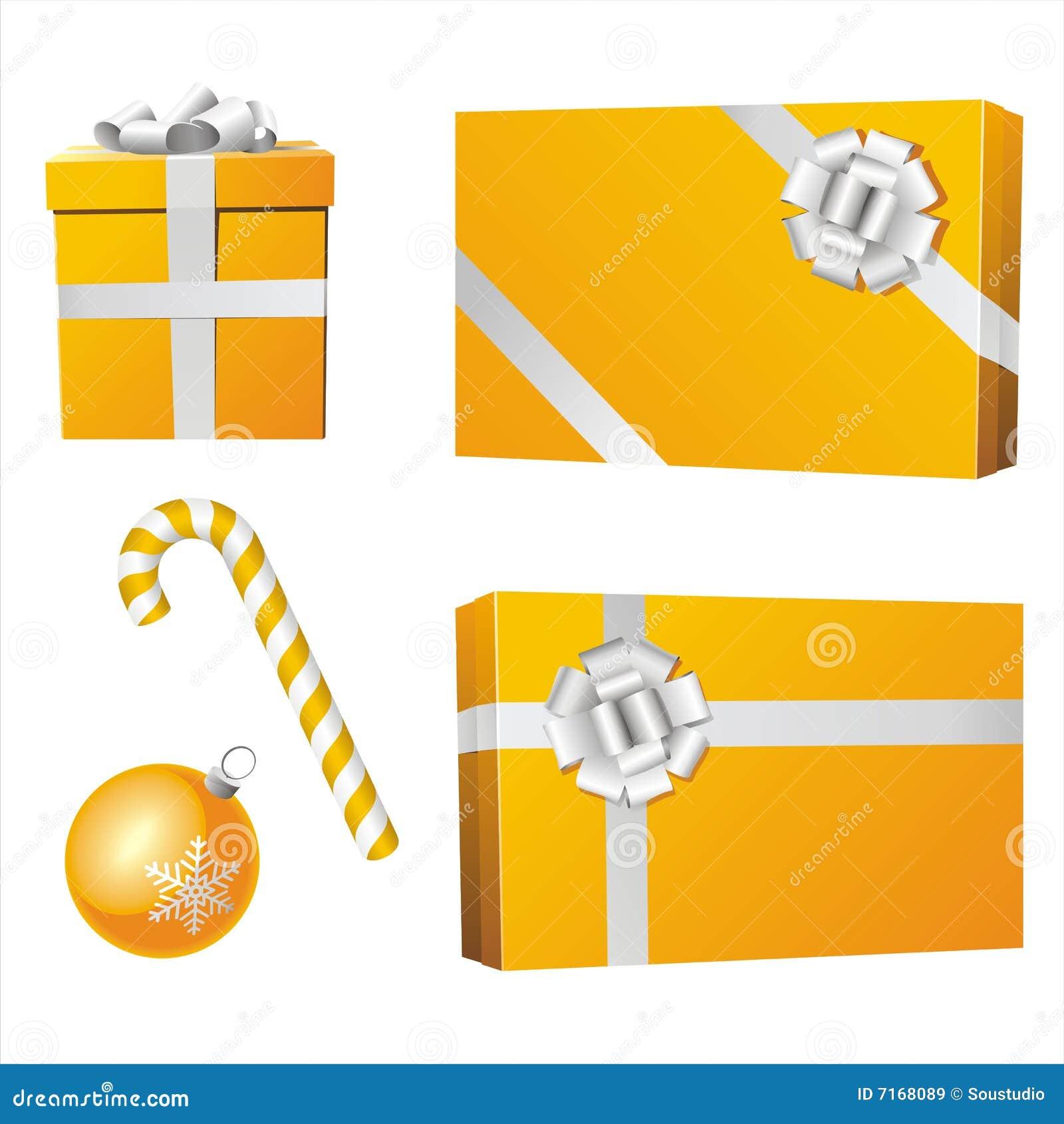 Objetos amarillos de la navidad im genes de archivo libres for Objetos de navidad
