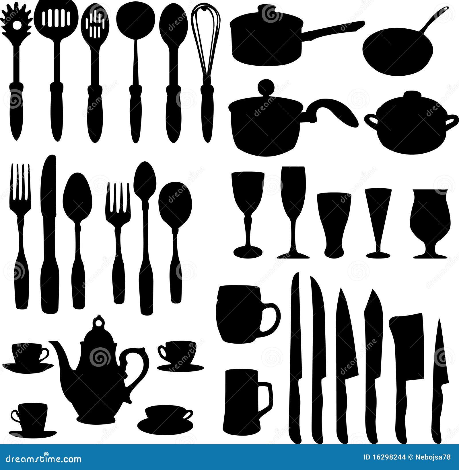 Kitchen Art Logo: Objetos Da Cozinha Imagens De Stock