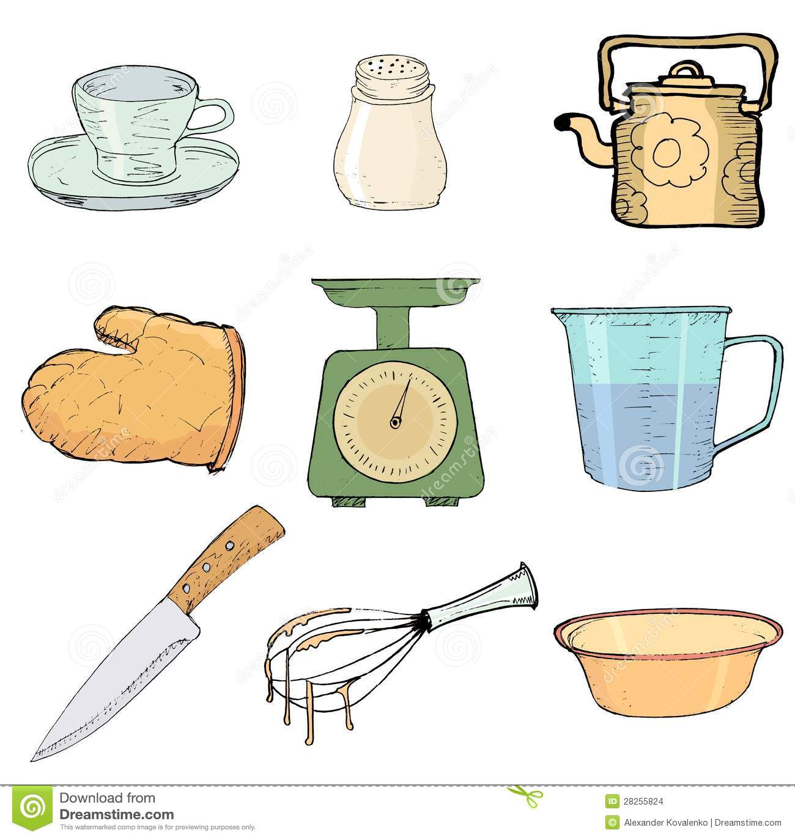Objetos de la cocina imagenes de archivo imagen 28255824 - Objetos de cocina ...