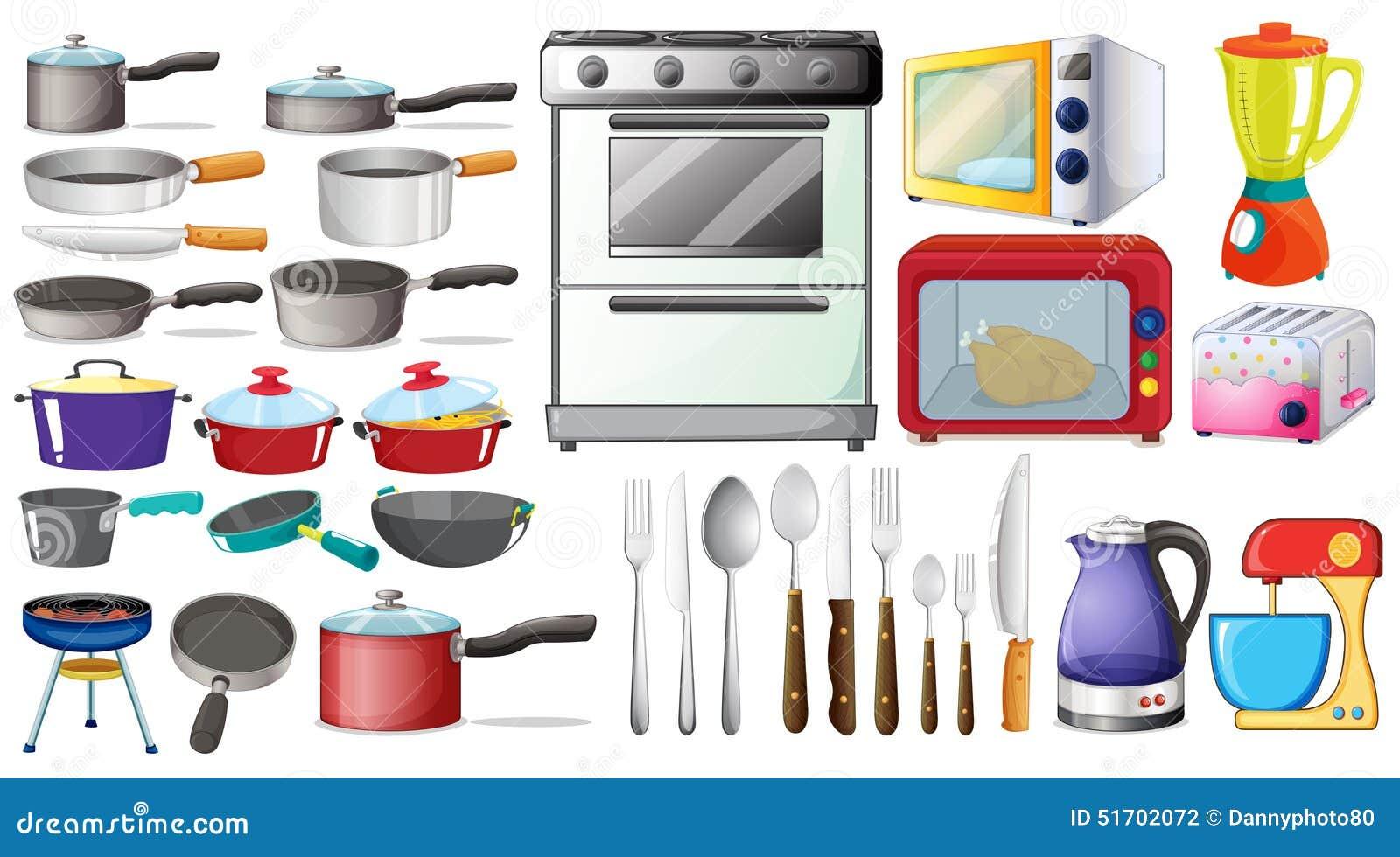 Objetos de la cocina ilustraci n del vector ilustraci n for Objetos para cocinar