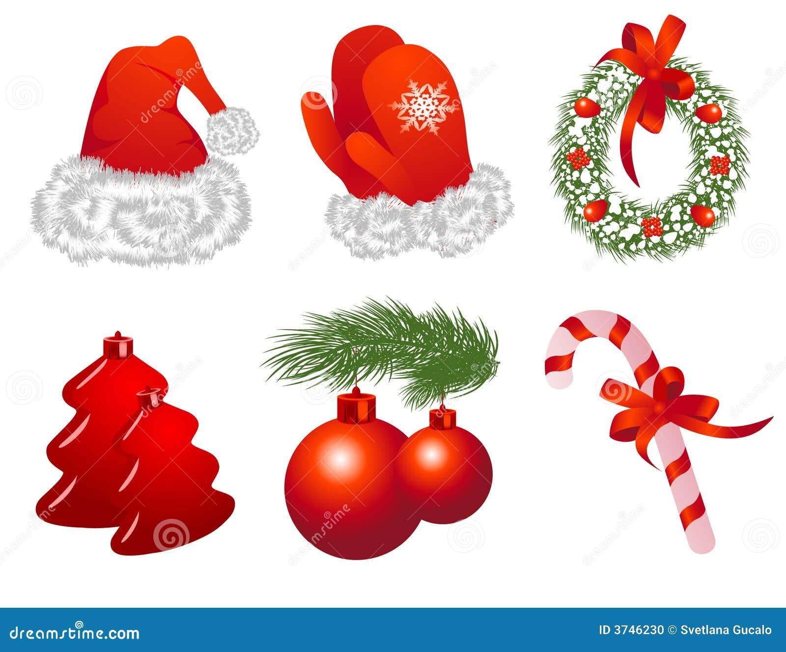 objetos de la navidad ilustraci n del vector imagen de