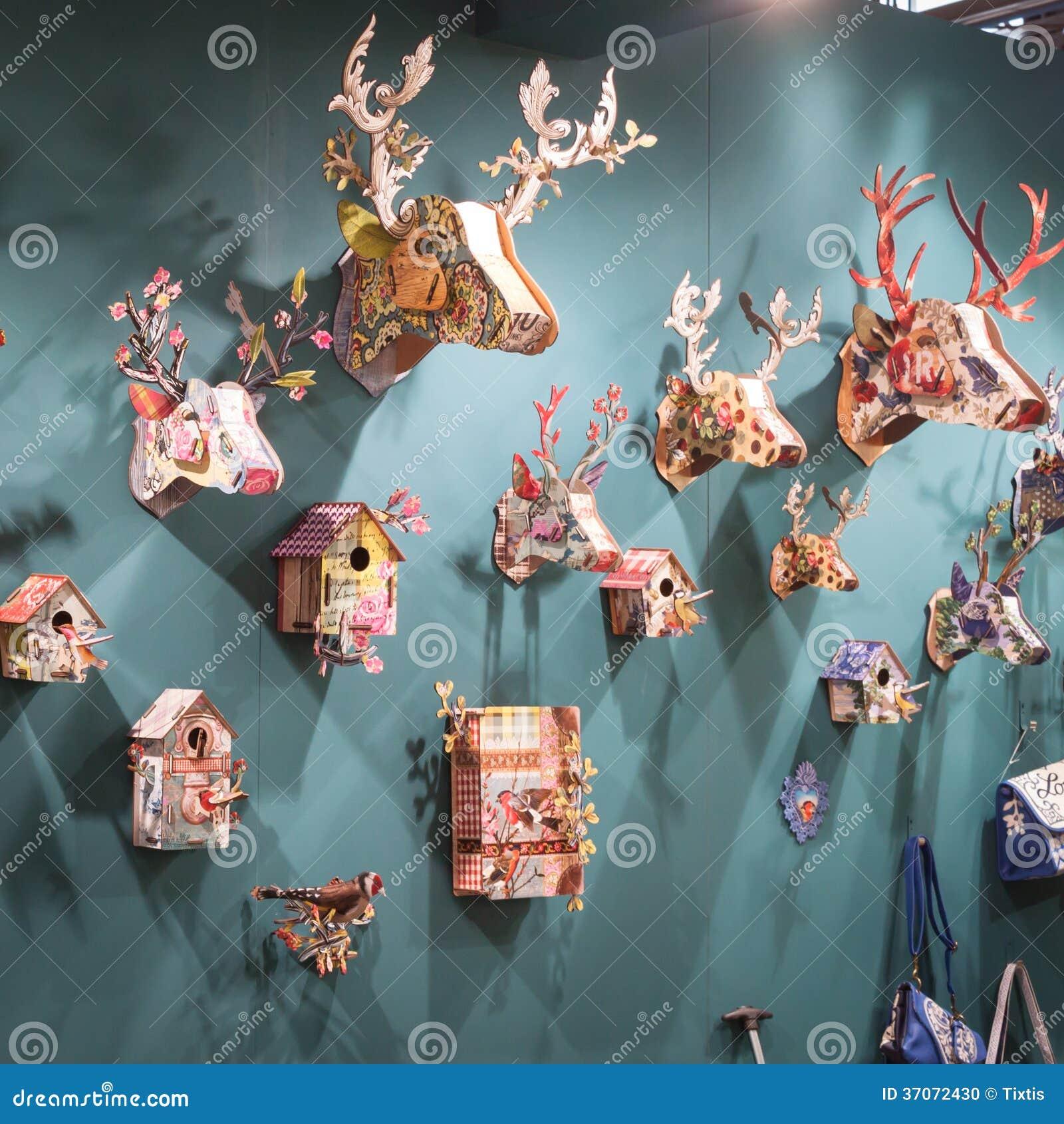 Objetos decorativos na exposi o em homi mostra - Objetos decorativos para salon ...