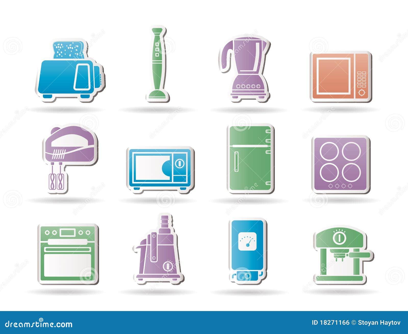 Objetos del cocina y caseros del equipo imagen de archivo for Objetos de cocina