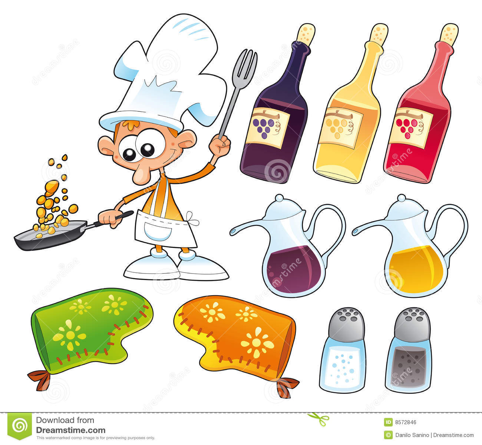 Objetos del cocinero y de la cocina imagen de archivo - Objetos de cocina ...