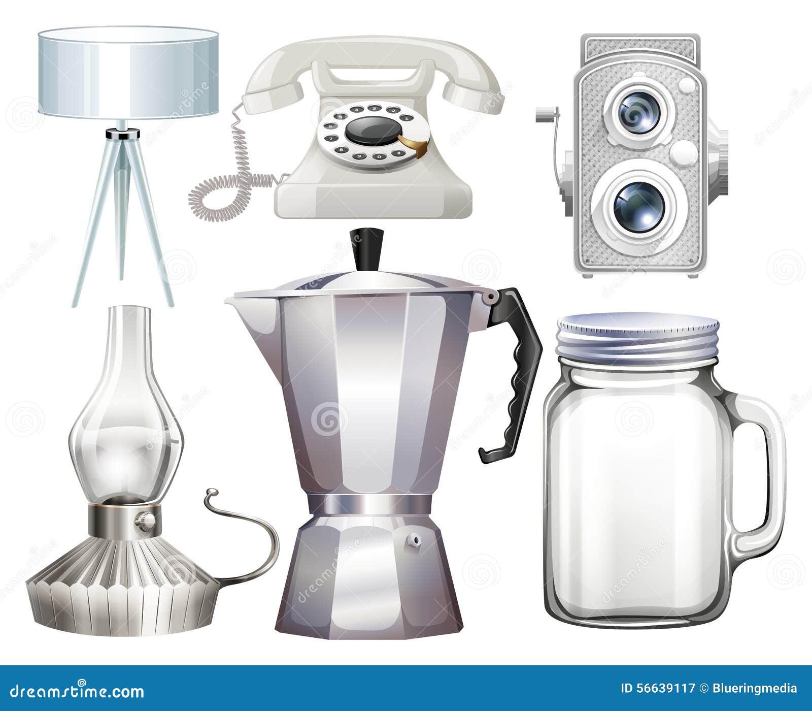 Objetos del hogar ilustraci n del vector imagen 56639117 for Cosas de hogar