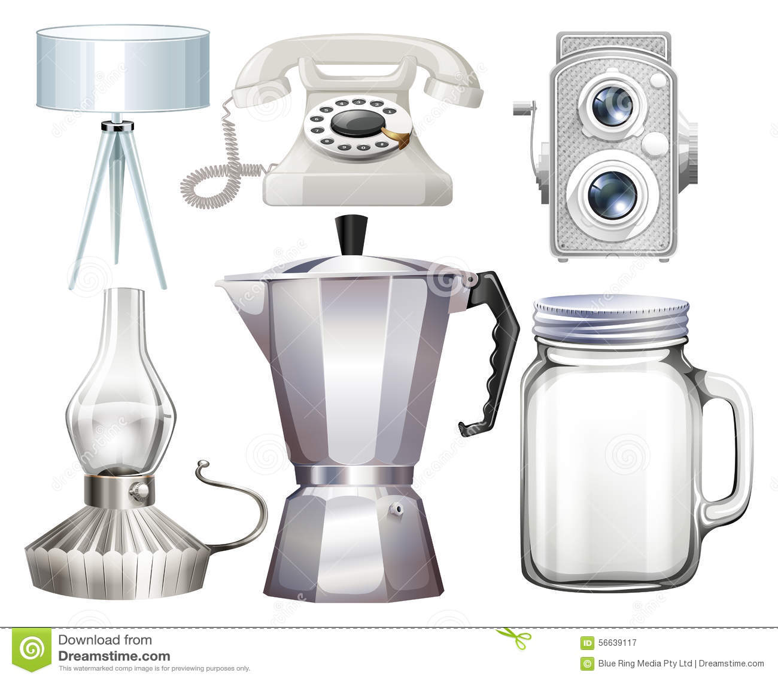 Objetos del hogar ilustraci n del vector imagen 56639117 for Objetos para el hogar