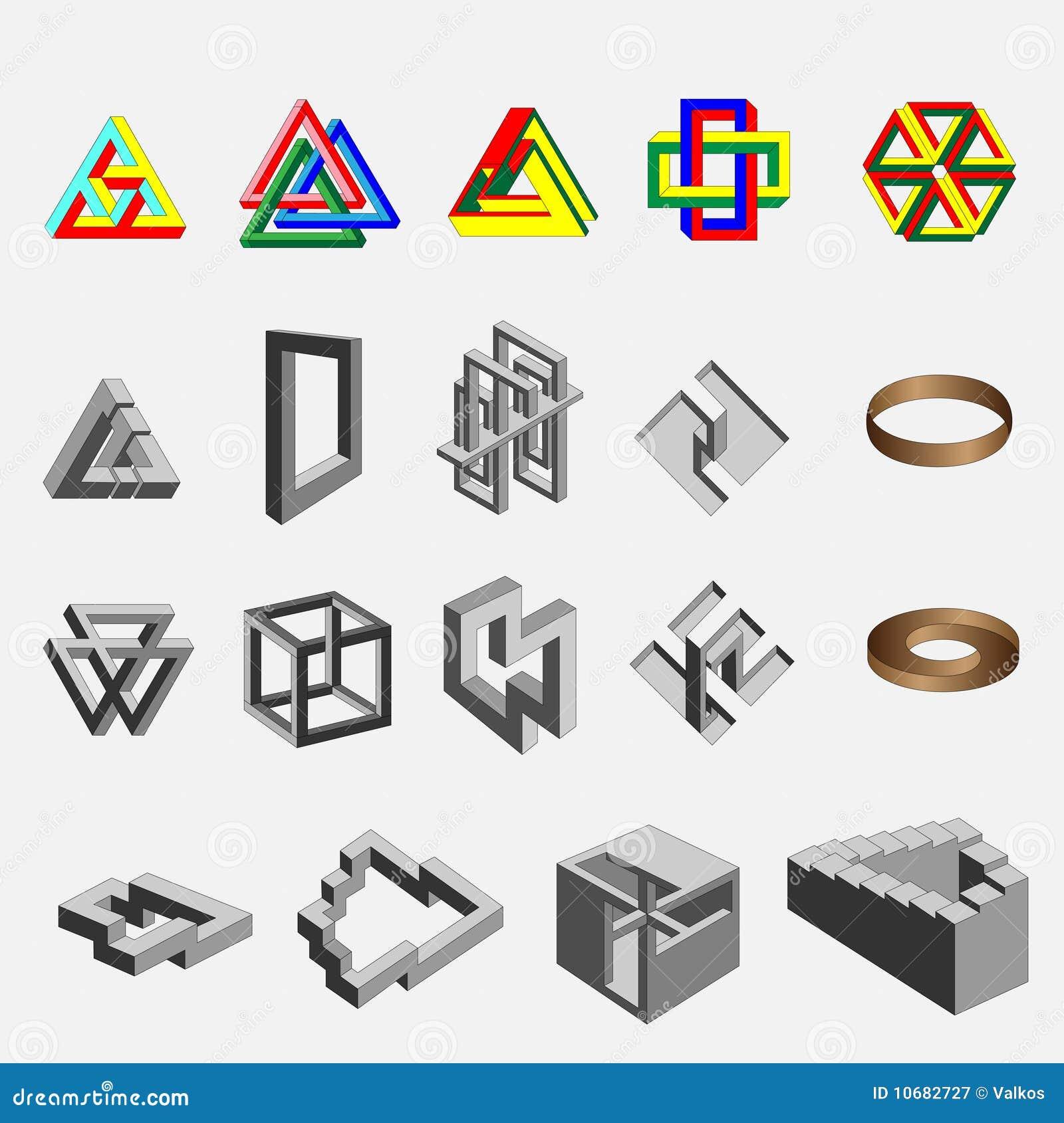 Objetos imposibles geom tricos fotograf a de archivo libre - Figuras geometricas imposibles ...