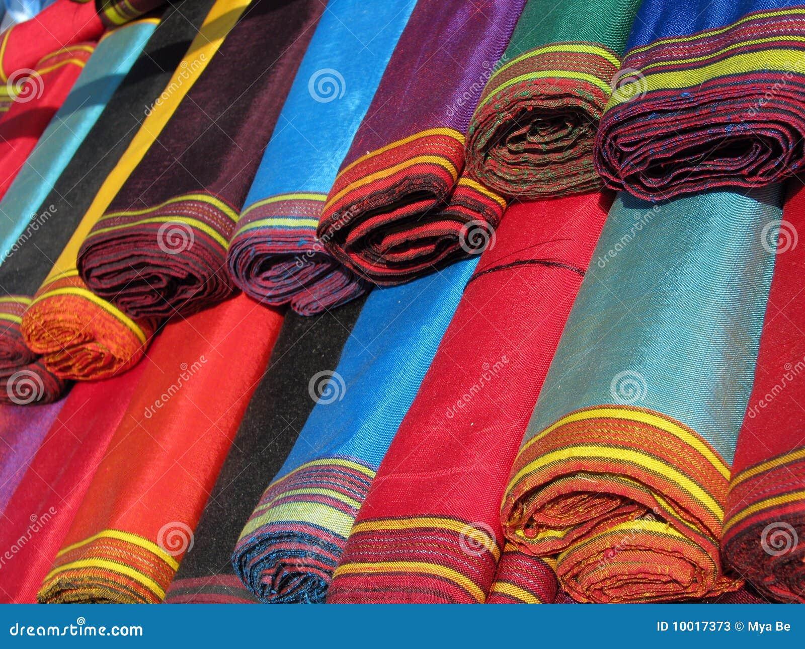 Objetos orientales del bazar telas del ketene imagen de - Muestrario de telas para ropa ...