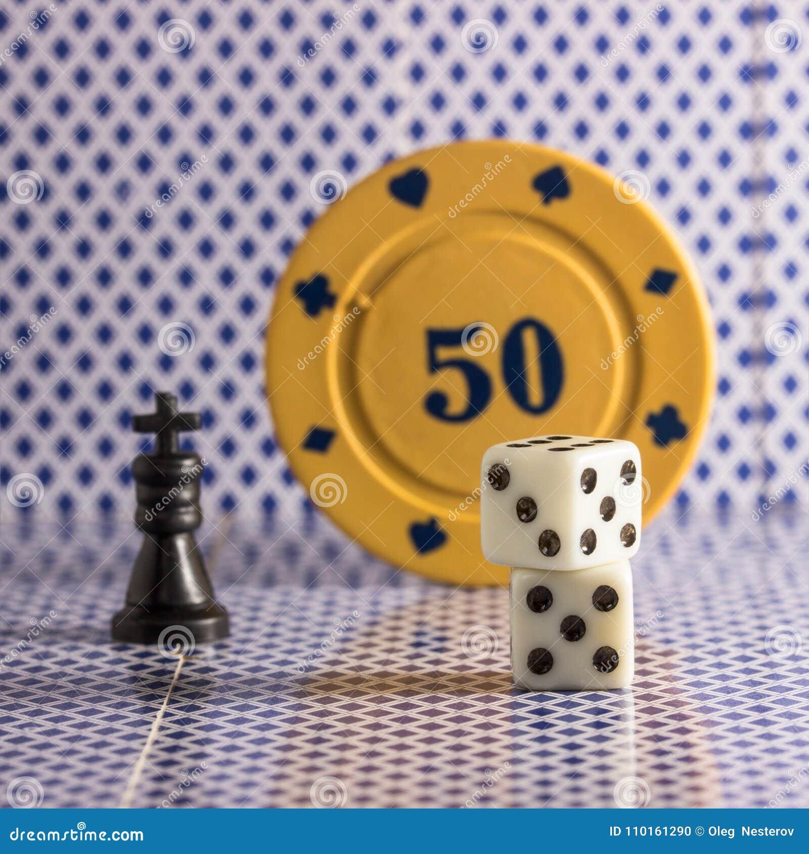 Objetos Populares Para El Poker Del Ajedrez De Los Dados De Los