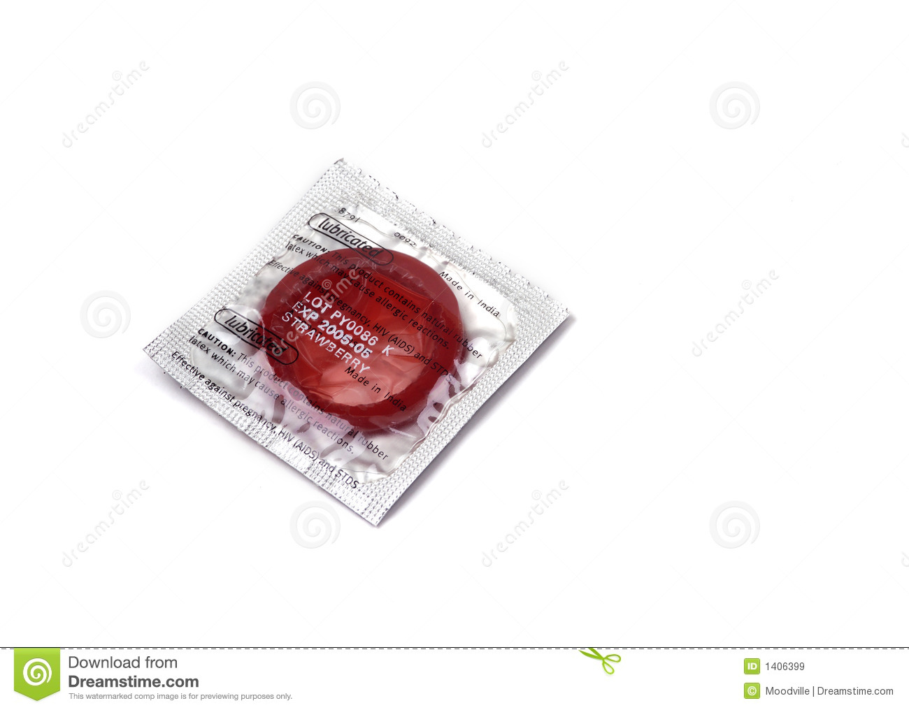 Objets - condom rouge