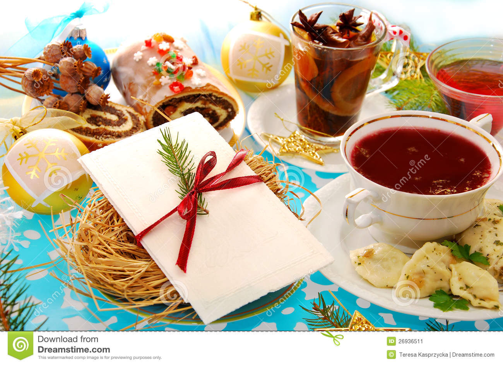 Oblea de la Nochebuena y platos tradicionales