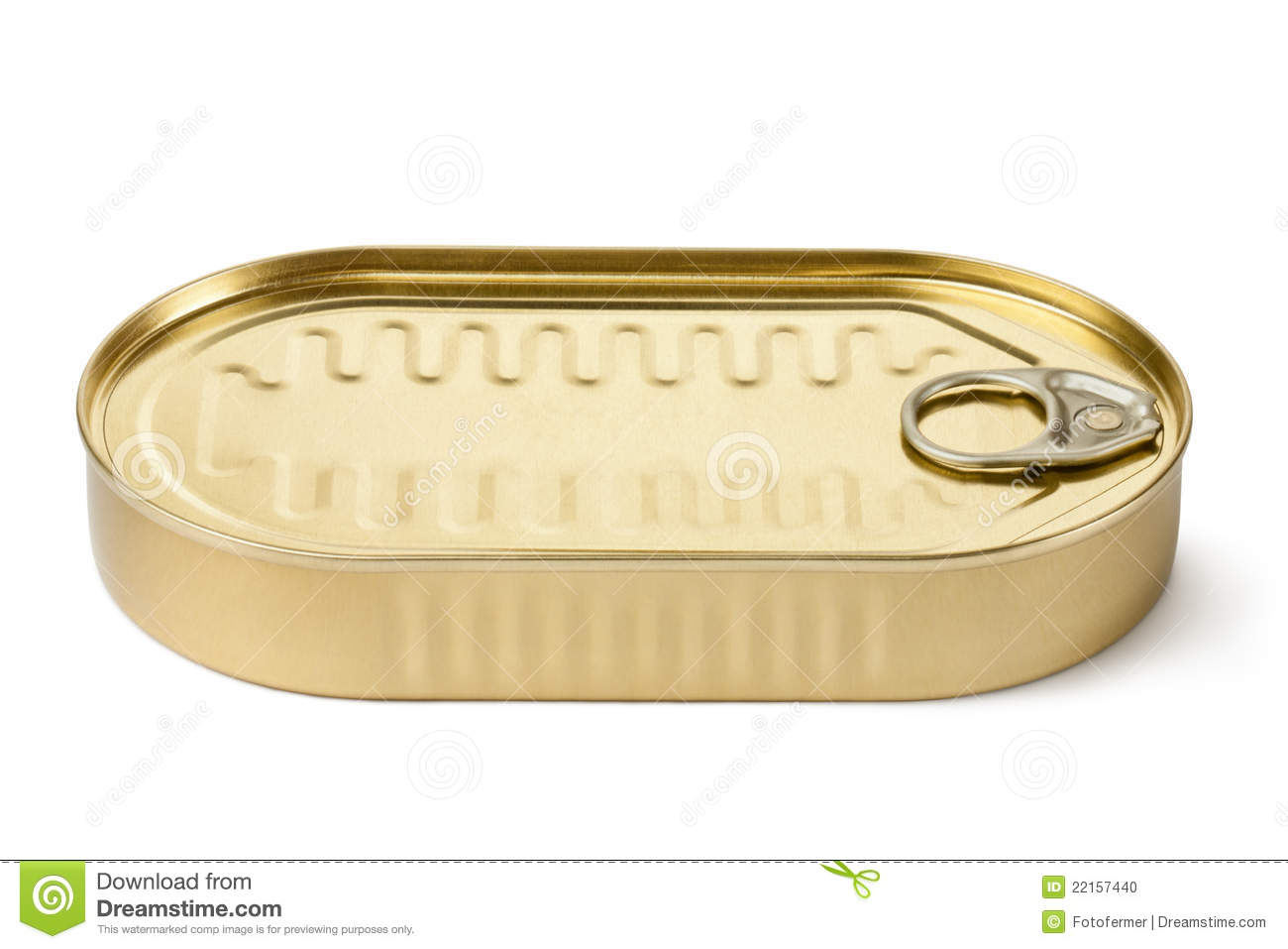 Oblong Can With Key Stock Photo