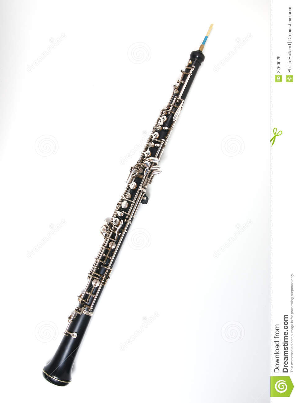 Oboe On White Royalty Free Stock Images Image 3760029