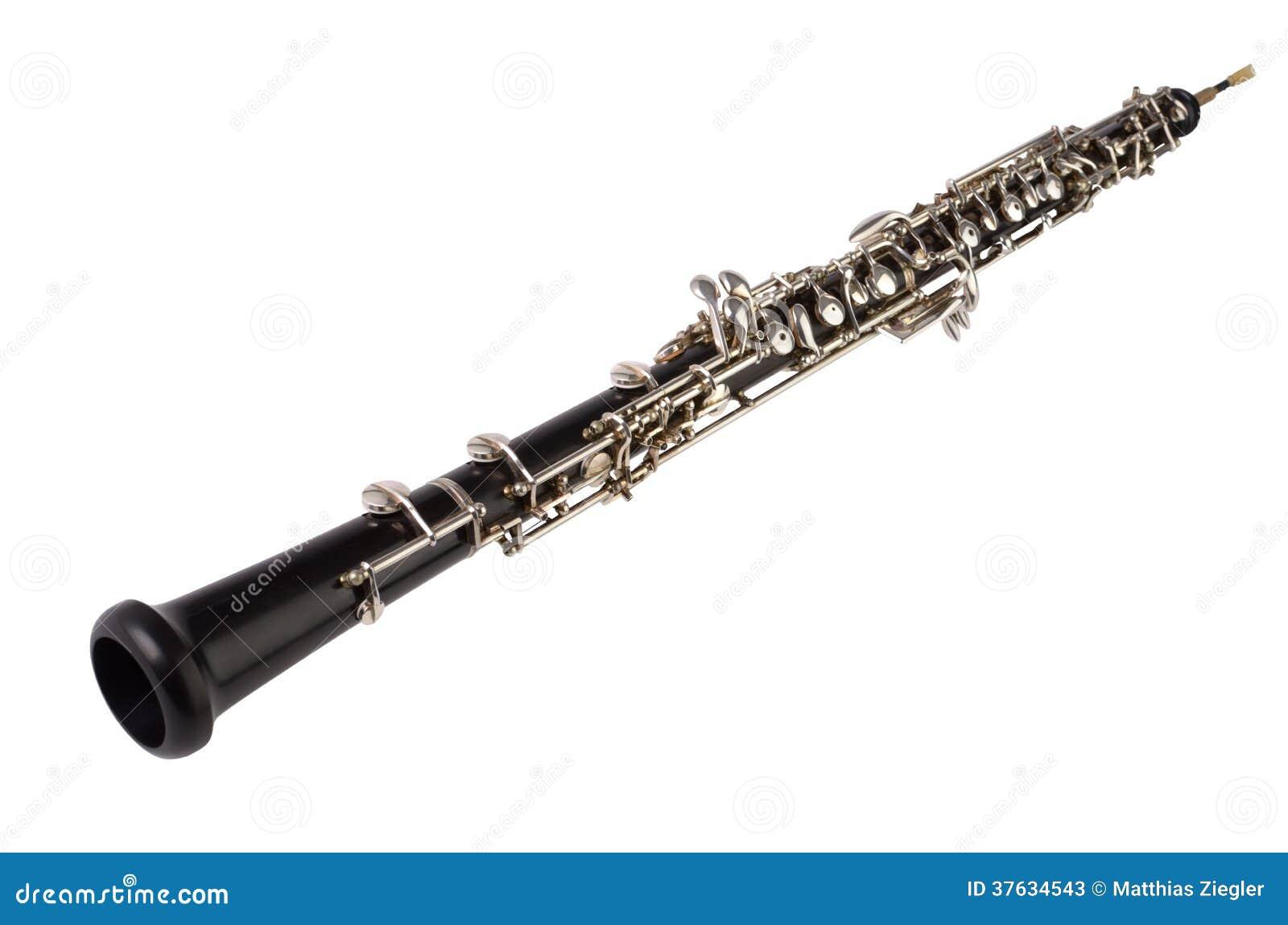 Clipart Oboe Oboe on white background Stock