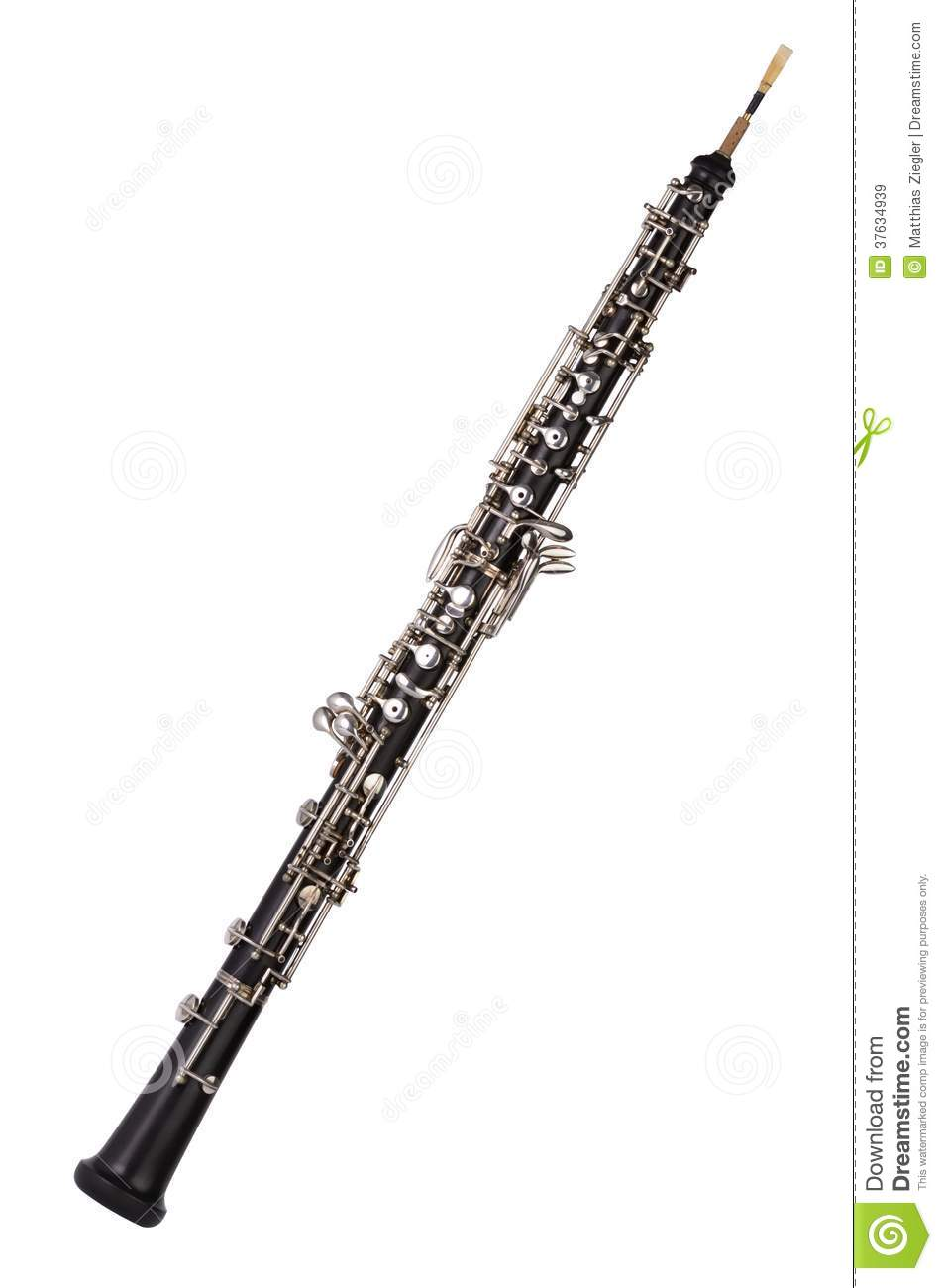 Clipart Oboe Oboe on white background