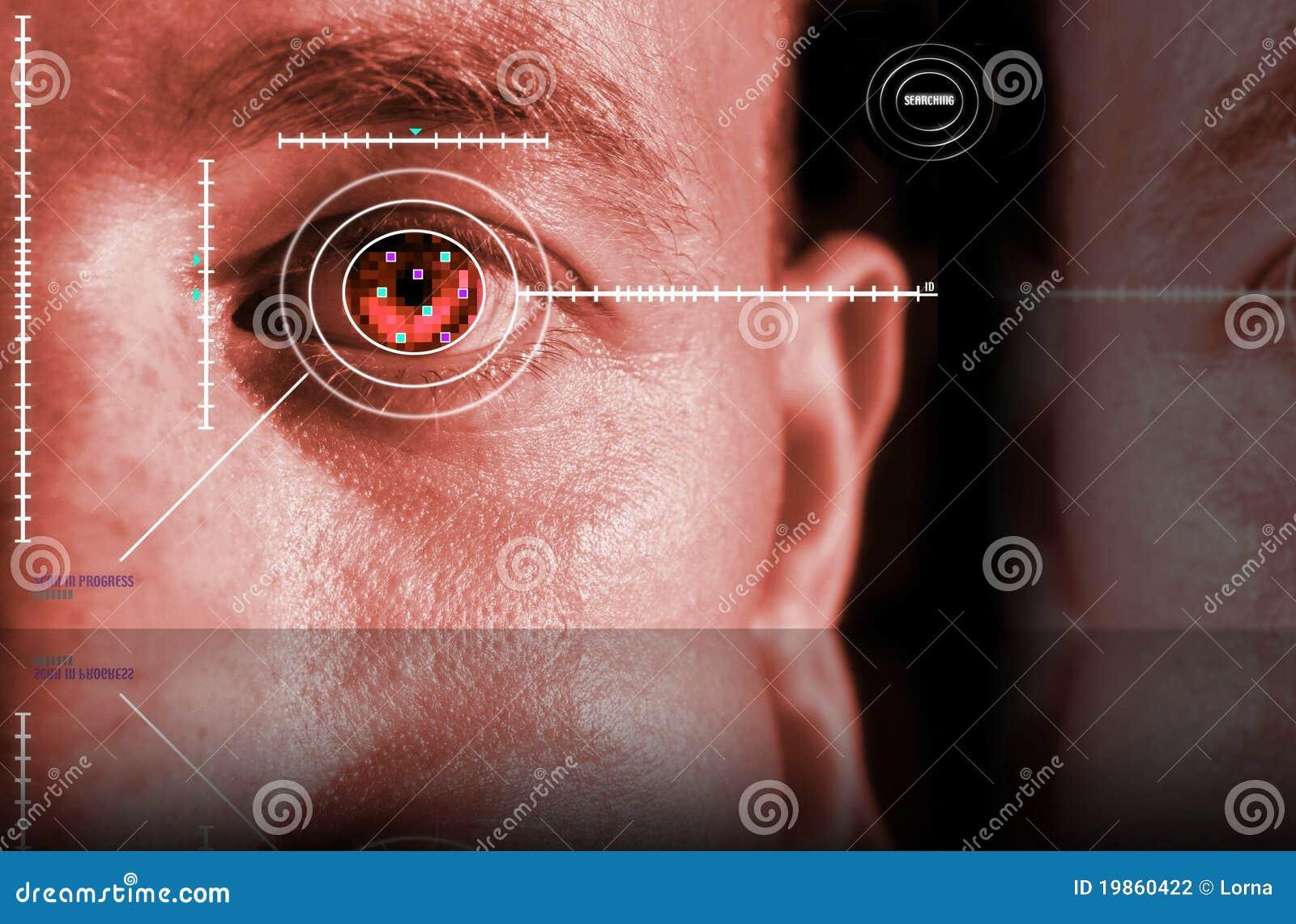 Obraz cyfrowy irysowa ochrona