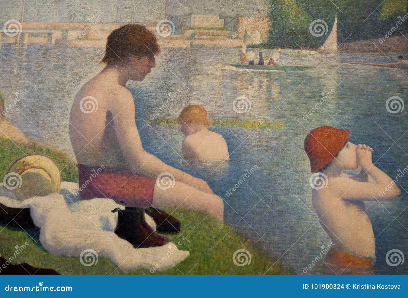 Obraz Georges Seurat w national gallery w Londyn