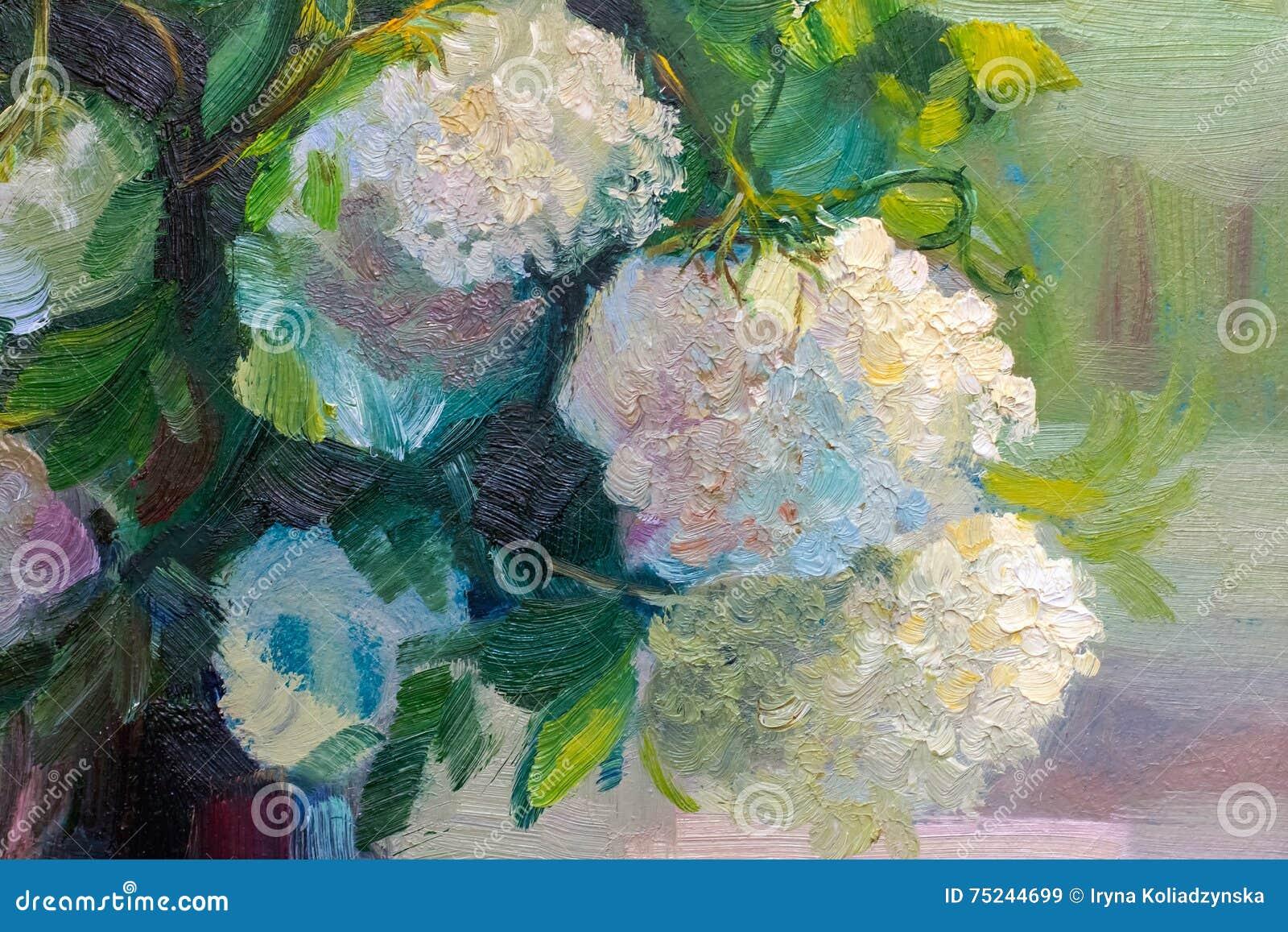 Obraz Olejny Tekstura Maluje Wciąż życie Impresjonizm Sztuka