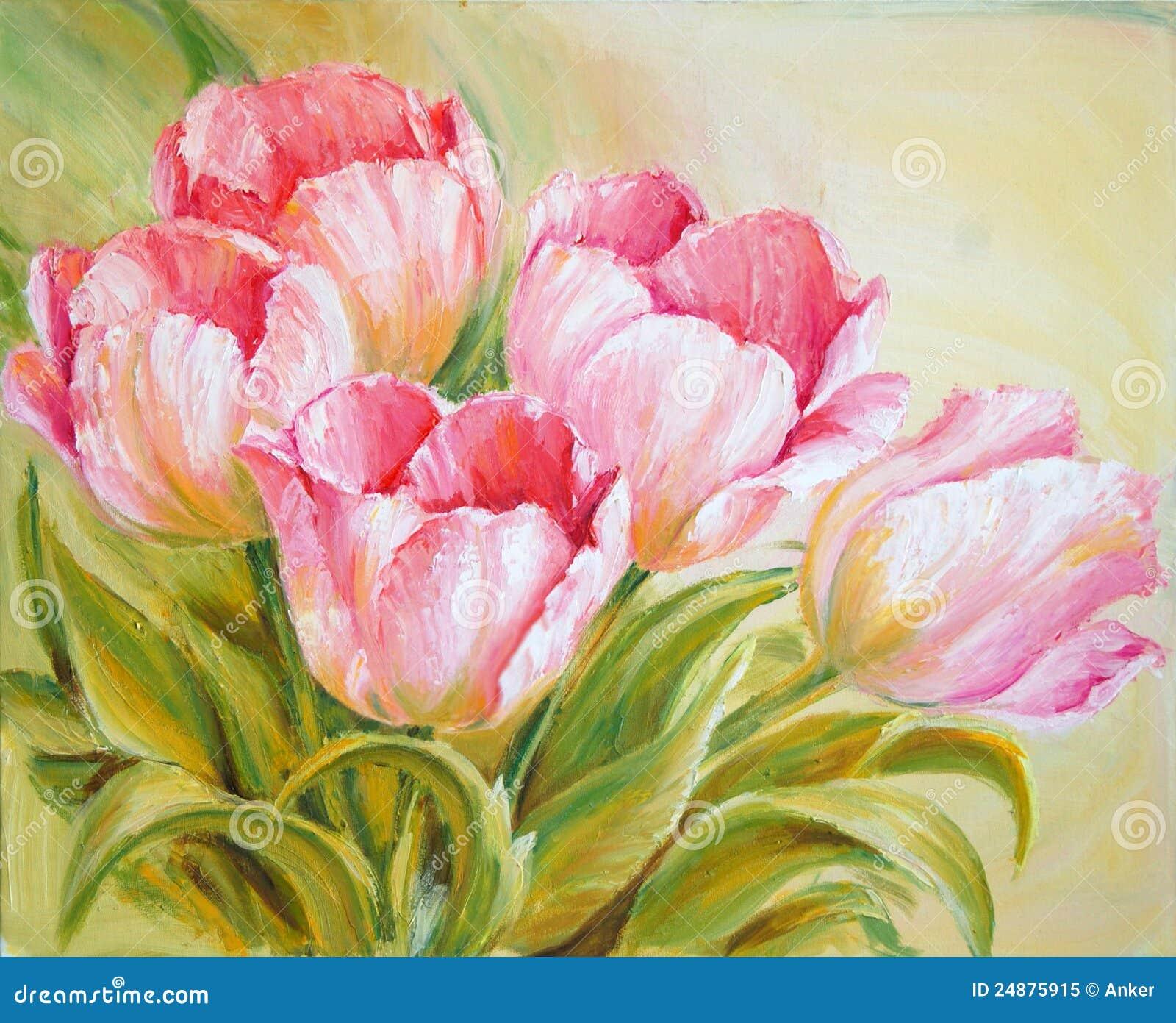 Obraz olejny tulipany