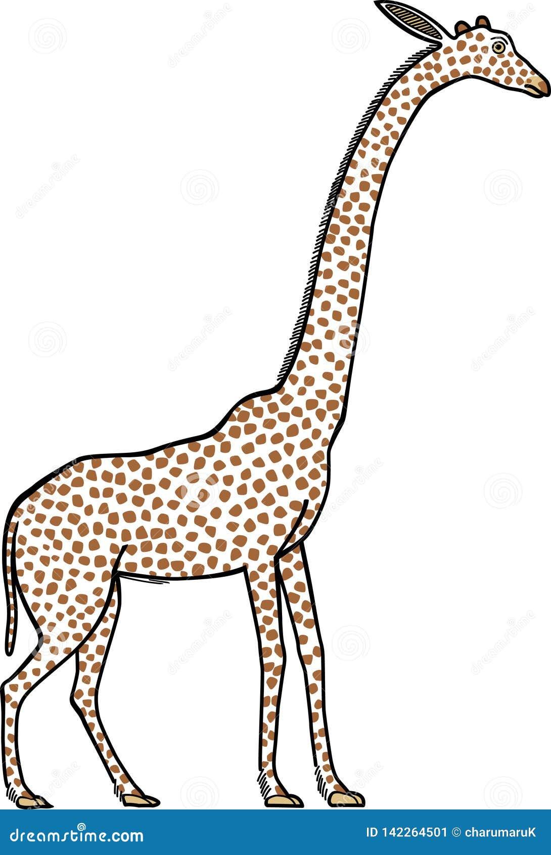 Obrazek żyrafa malował na antycznym Egipskim malowidle ściennym
