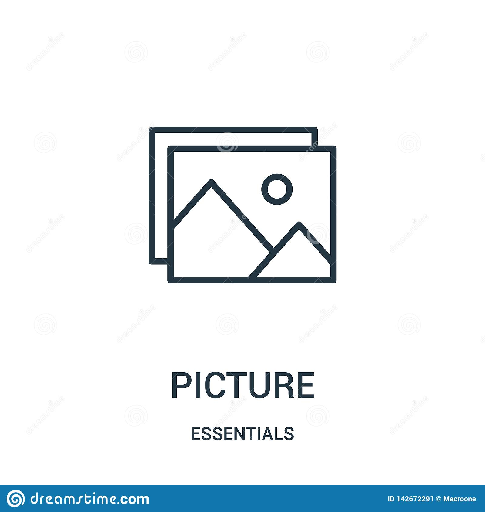 Obrazek ikony wektor od podstaw inkasowych Cienka kreskowa obrazka konturu ikony wektoru ilustracja Liniowy symbol dla używa na s