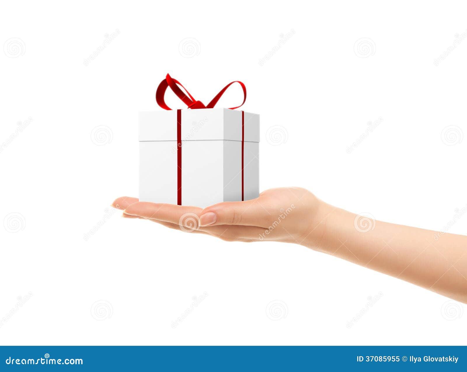 Download Obrazek Kobiet Ręki Trzyma Prezenta Pudełko Obraz Stock - Obraz złożonej z konceptualny, ludzie: 37085955