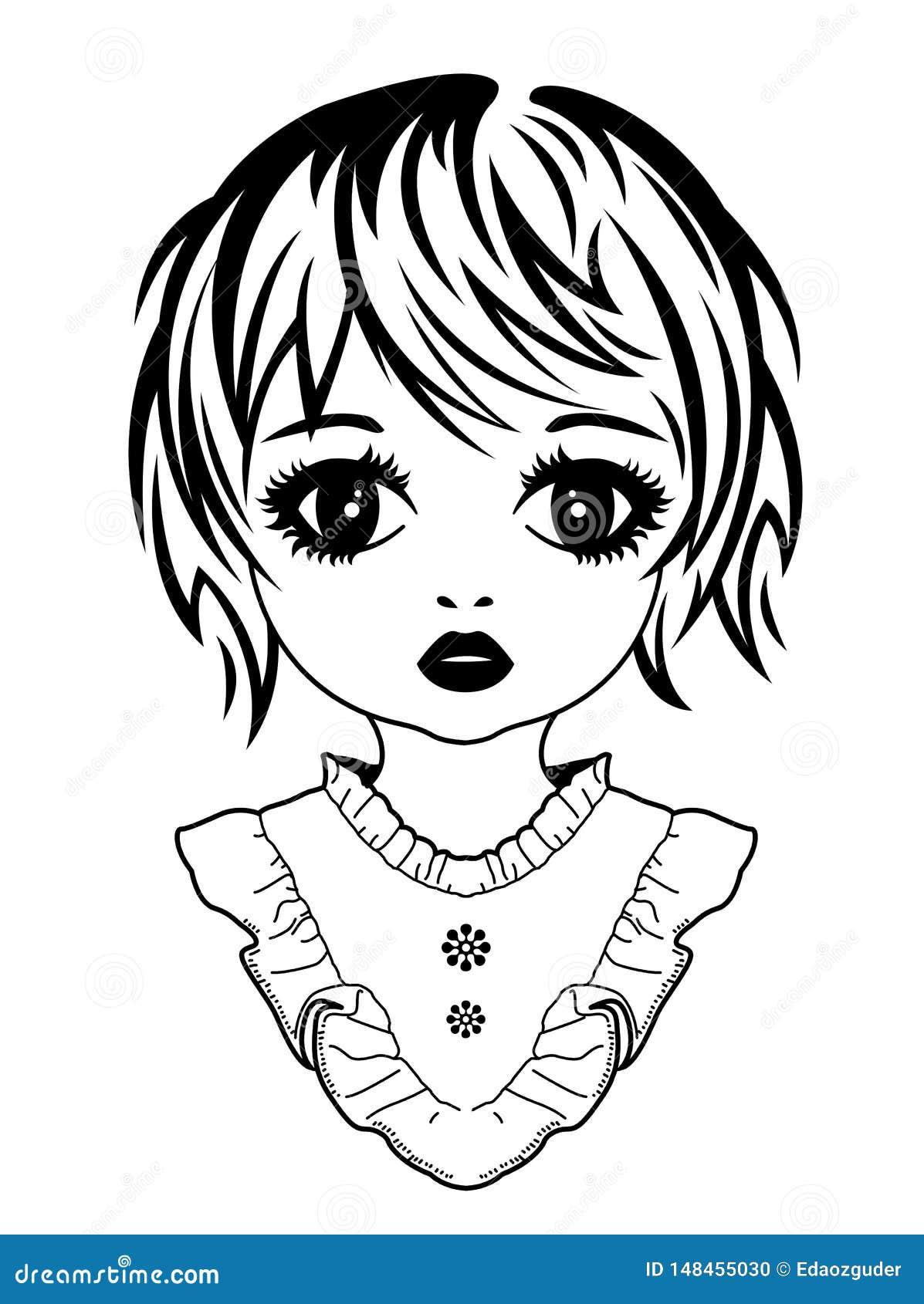 Obrazka portret dziewczyna