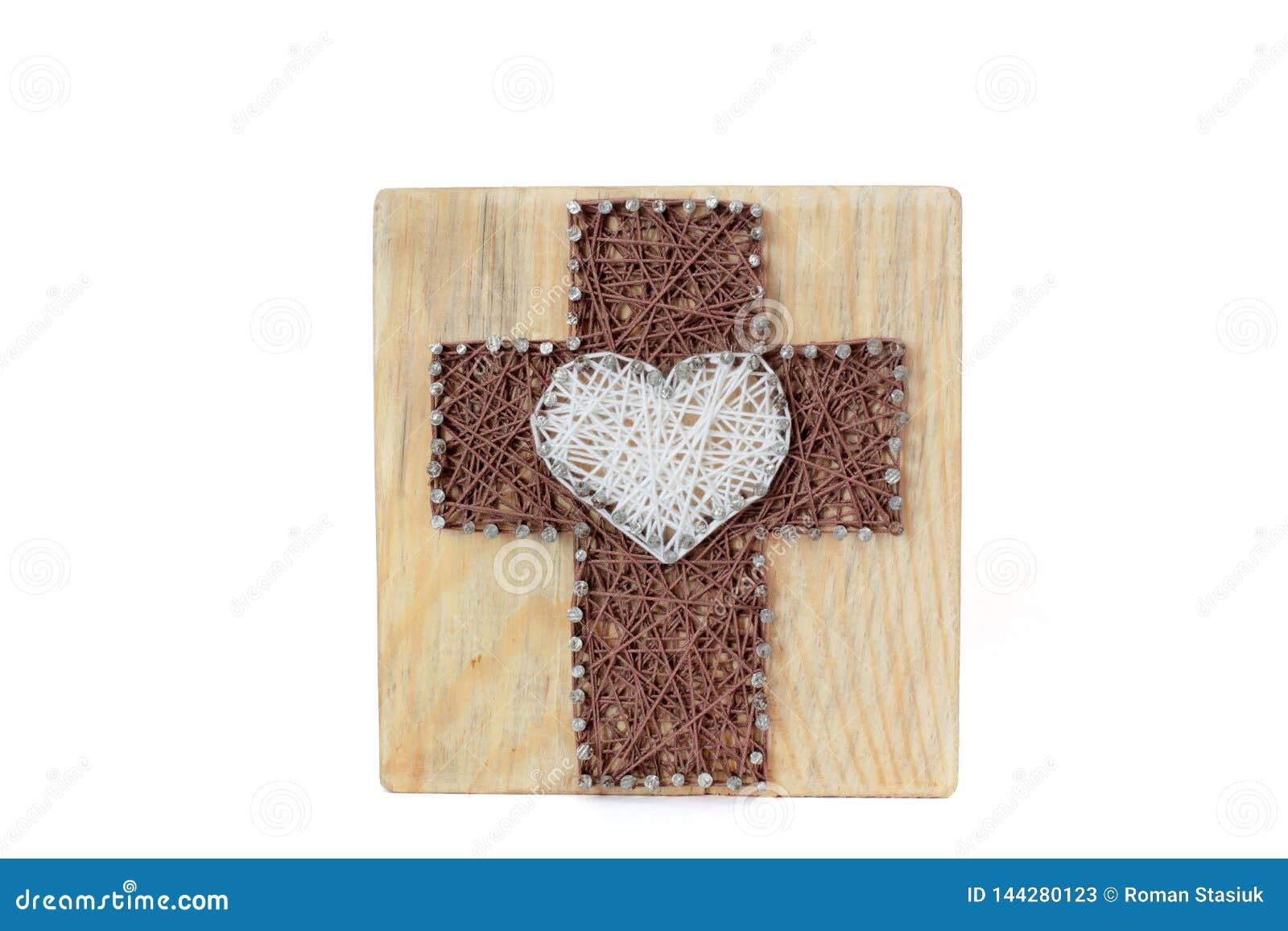 Obrazki w stylu smyczkowej sztuki krzyż