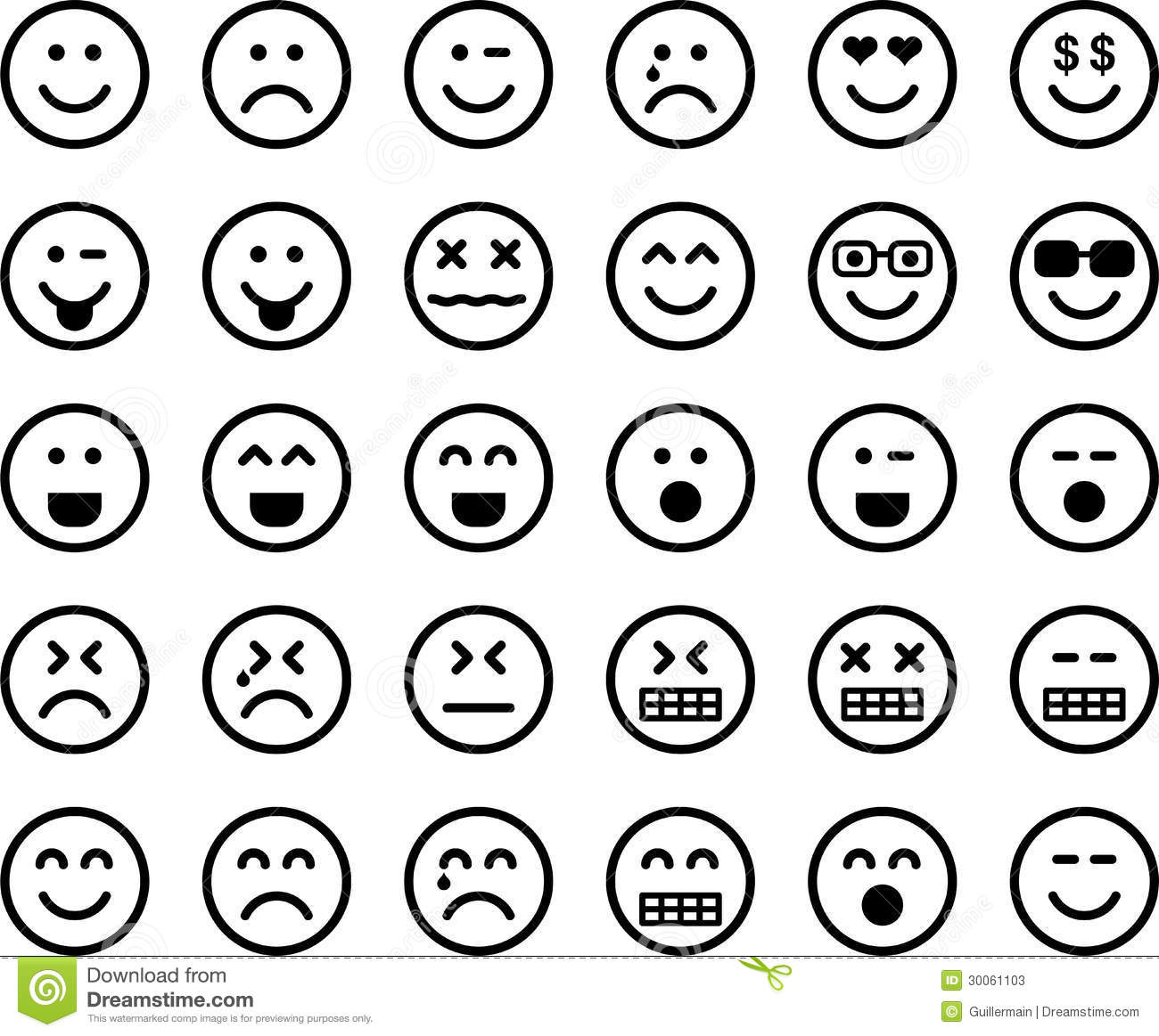 Set emoticons