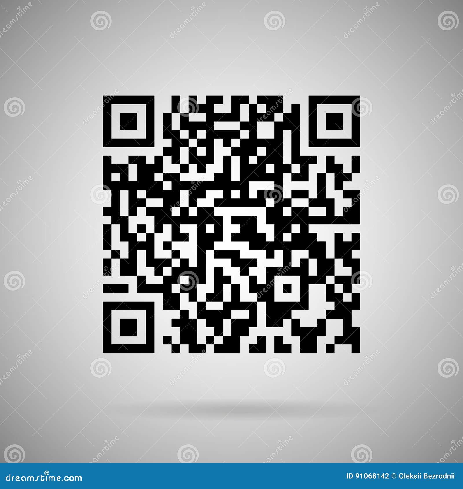 Obrazu cyfrowego kodu wektor