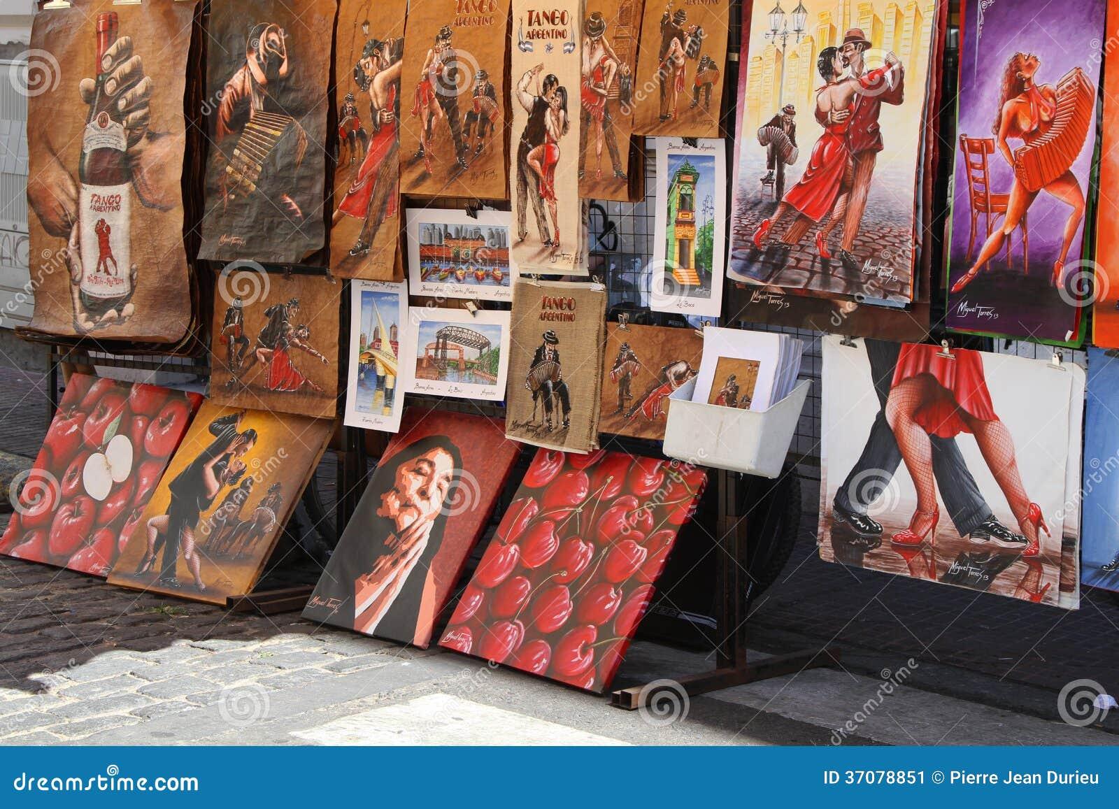 Download Obrazy w San Telmo zdjęcie editorial. Obraz złożonej z ulica - 37078851