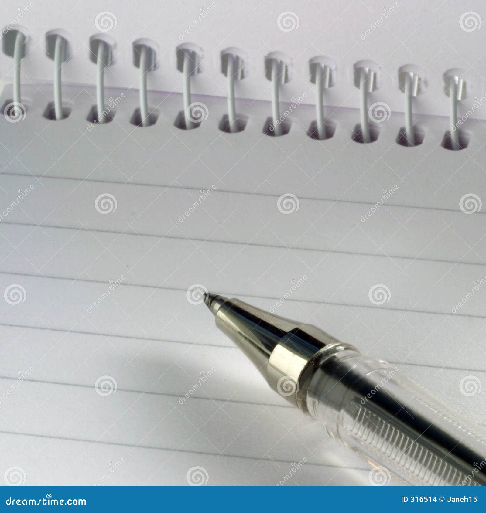 Obrońca kartkę długopis