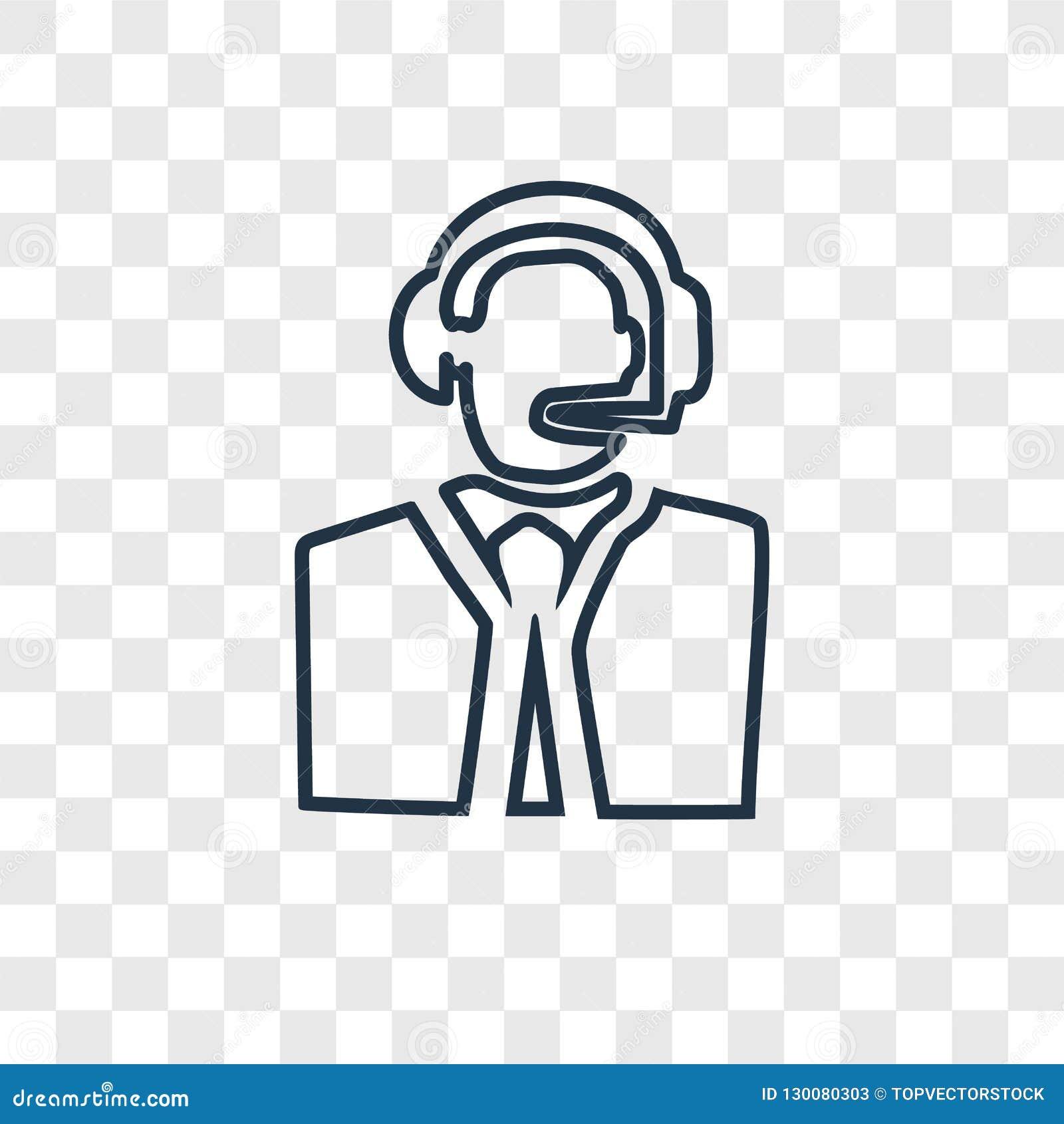 Obsługi klientej pojęcia wektorowa liniowa ikona odizolowywająca na transpar