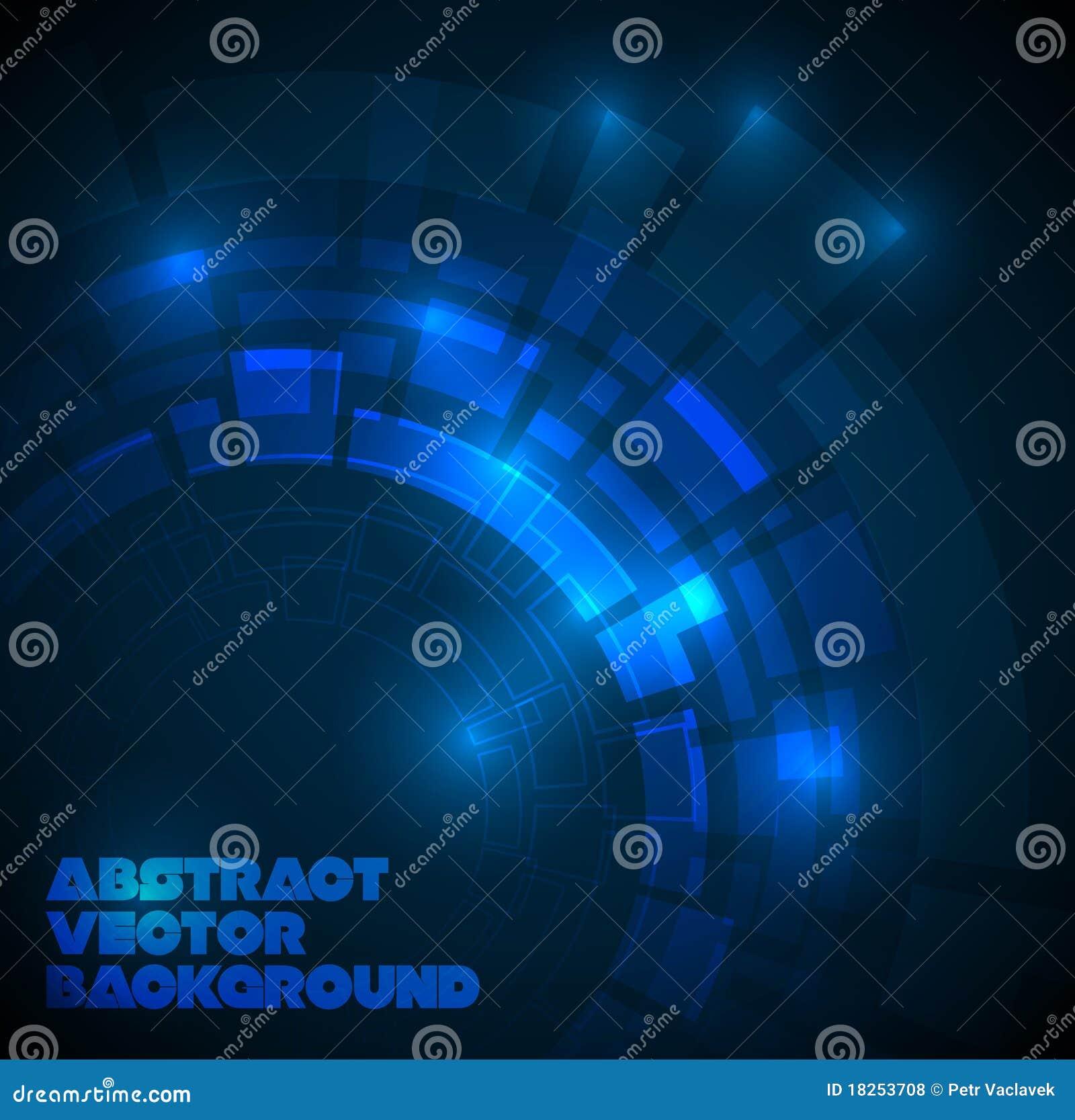 Obscuridade abstrata - fundo técnico azul