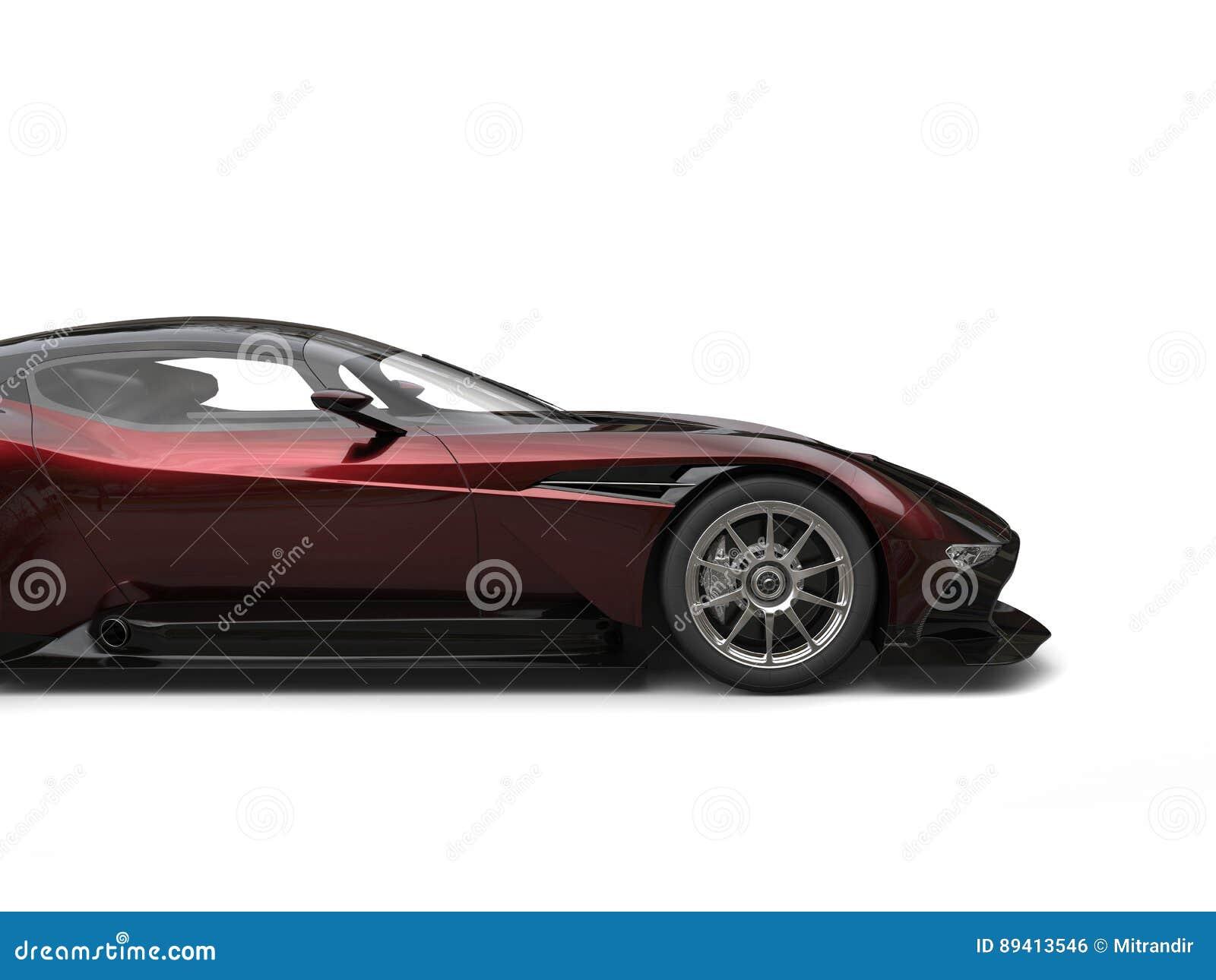 Obscuridade impressionante - sportscar moderno vermelho - corte o tiro