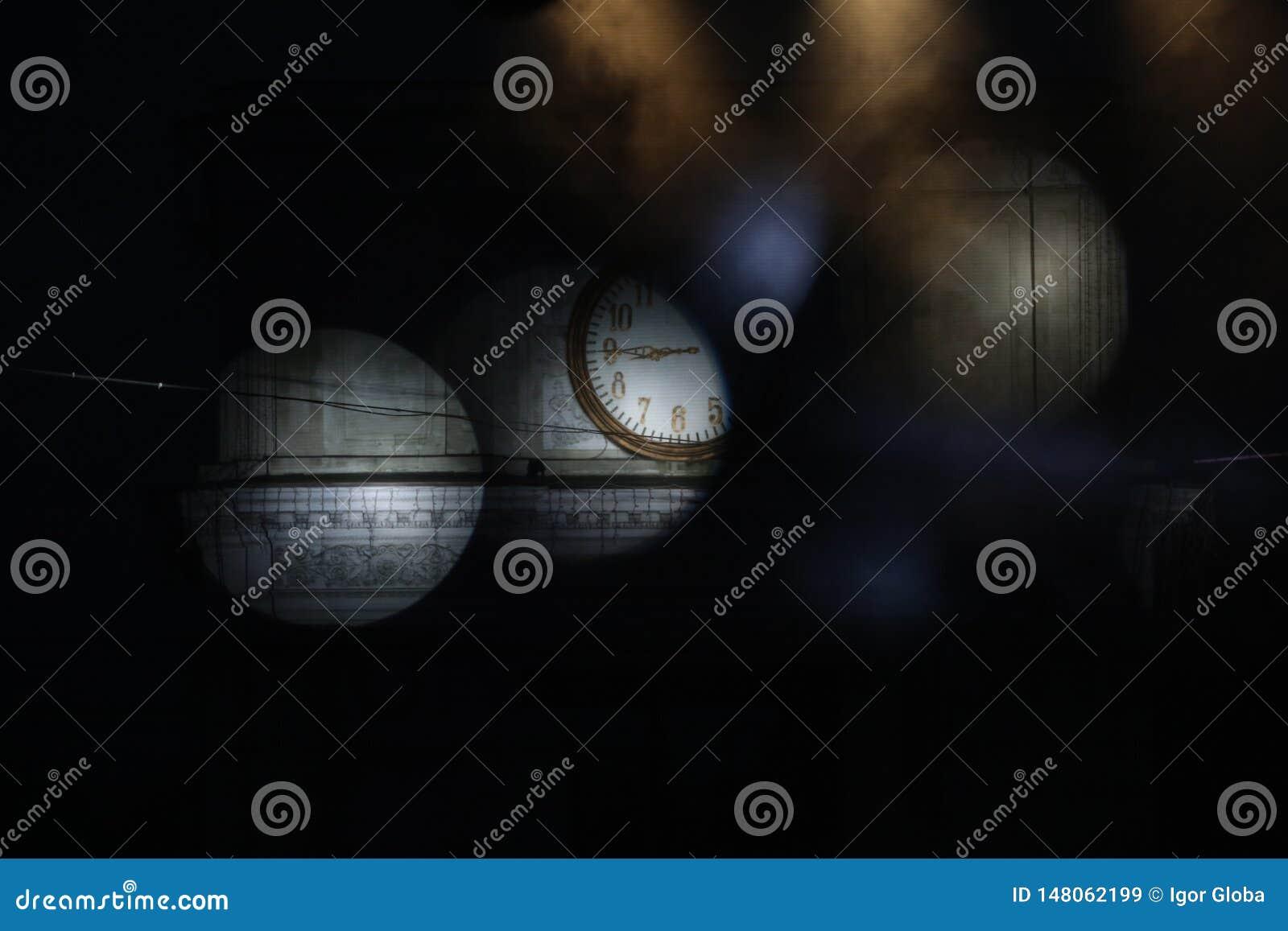 Obscurité dans Moldau, nuit chisinau,