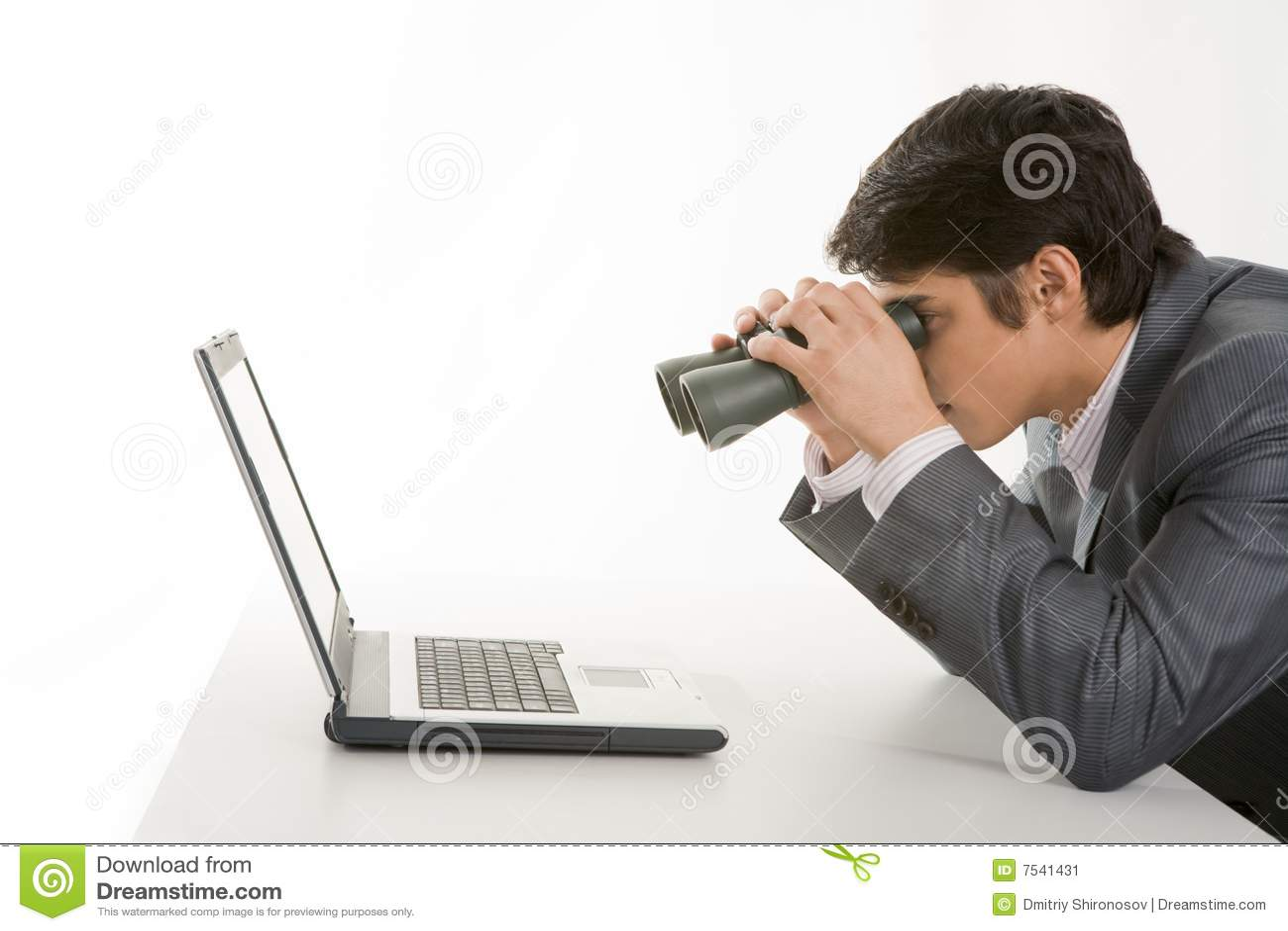 Observação no portátil
