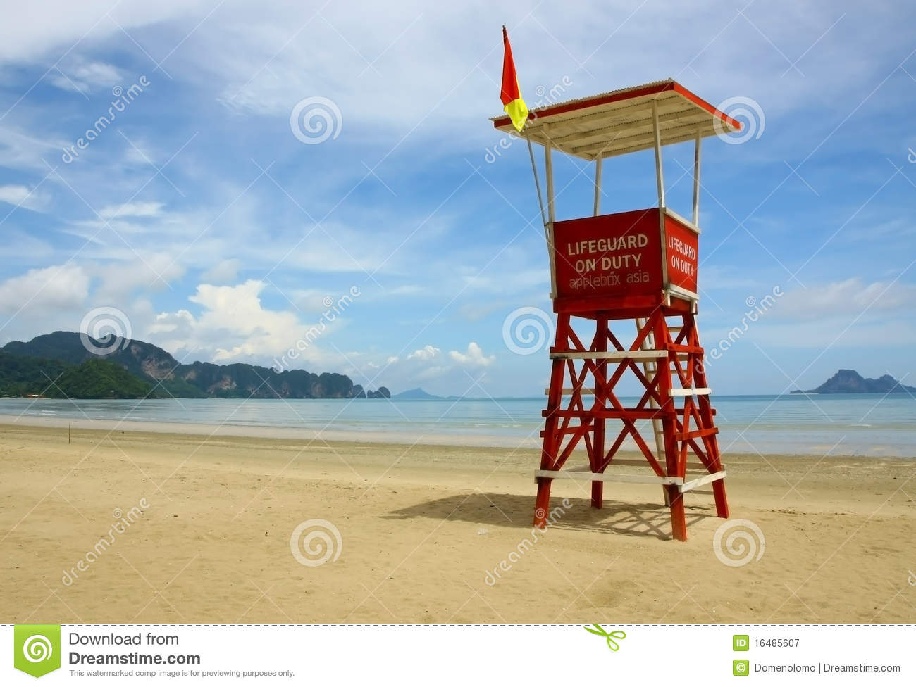 Observation tower on the beach