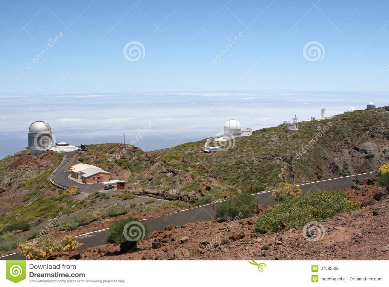 Observatories for observing the stars and planets, La Palma, Spain