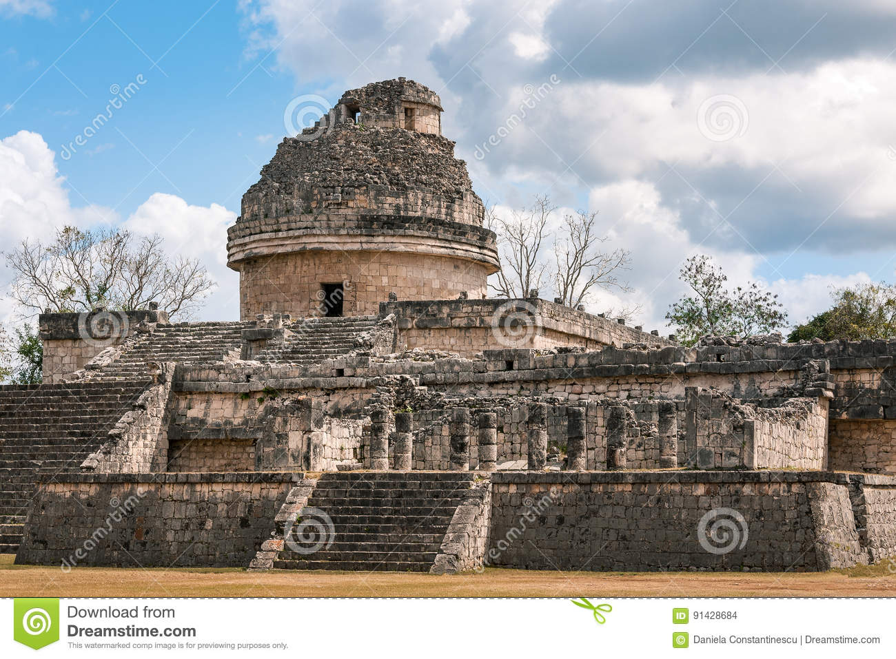 The Observatory at Chichen Itza, Mexico