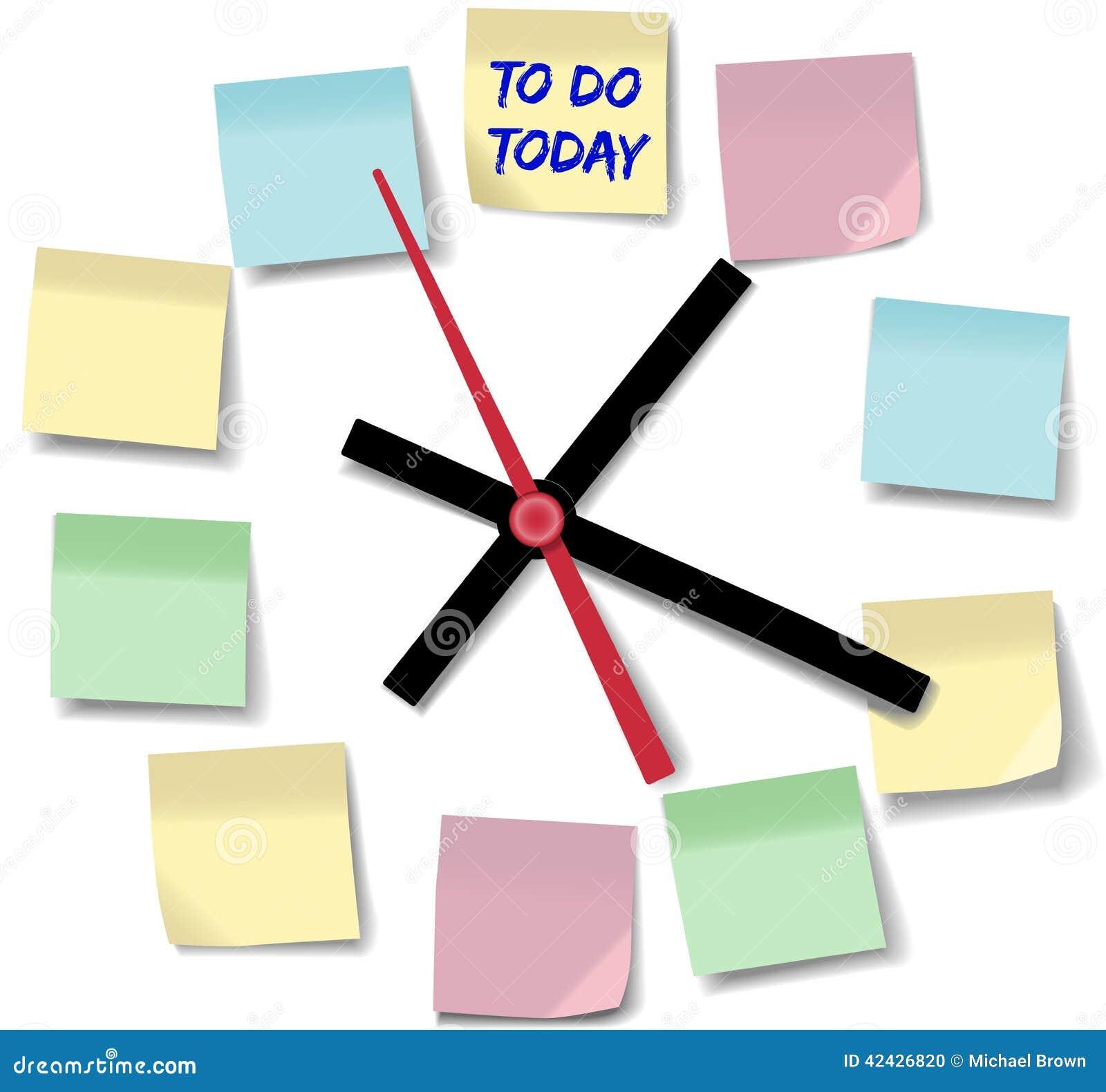 Observe el reloj de tiempo ocupado del día de las notas