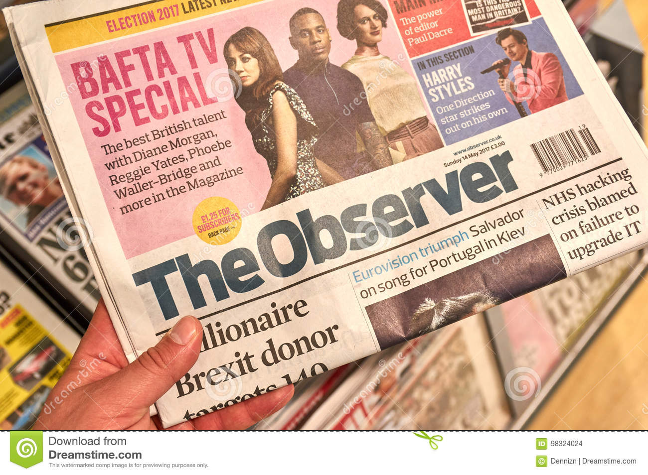 a5a4f03801a The Observer newspaper editorial stock image. Image of icon - 98324024
