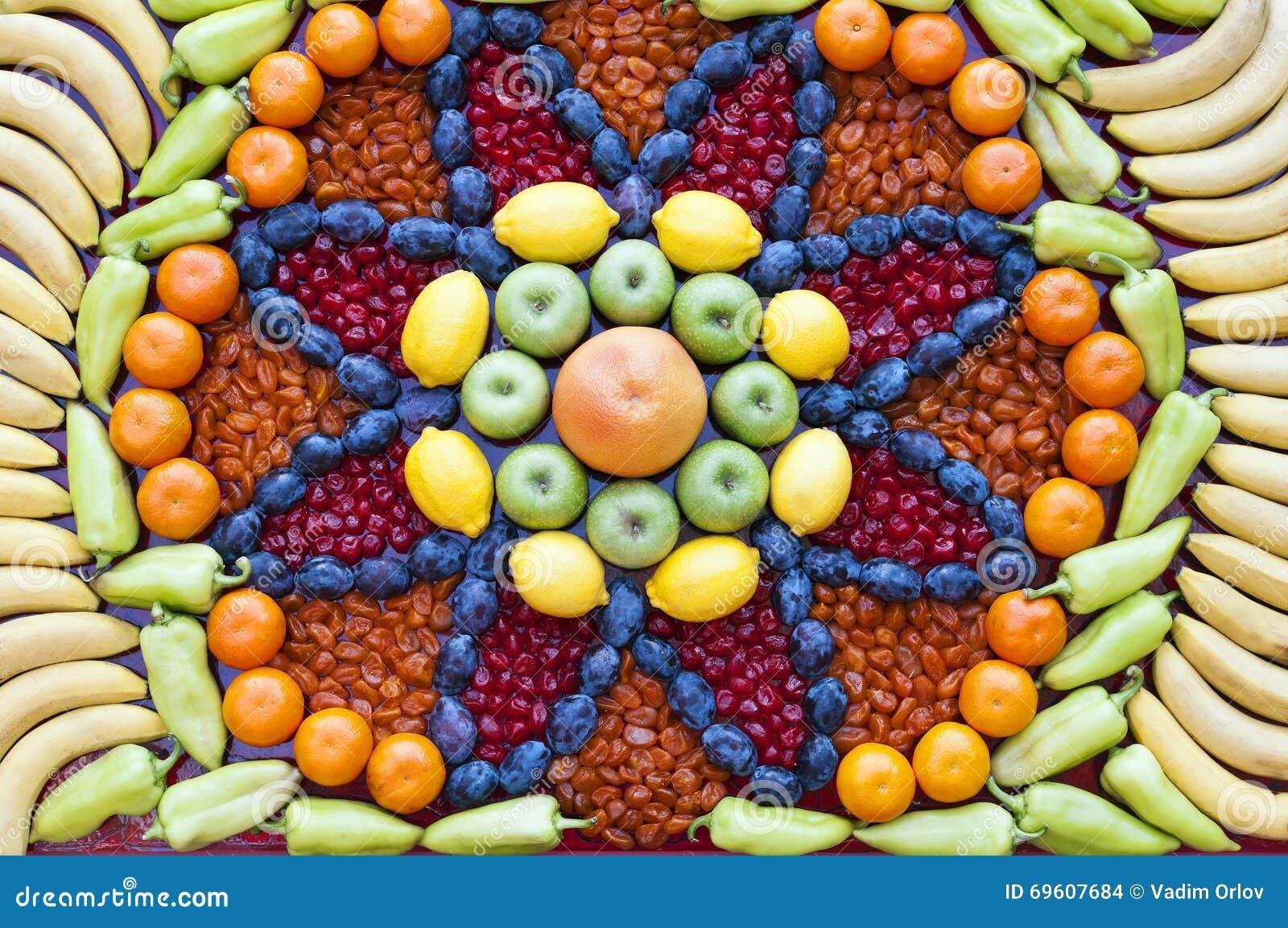 Obst- und Gemüse Mosaik