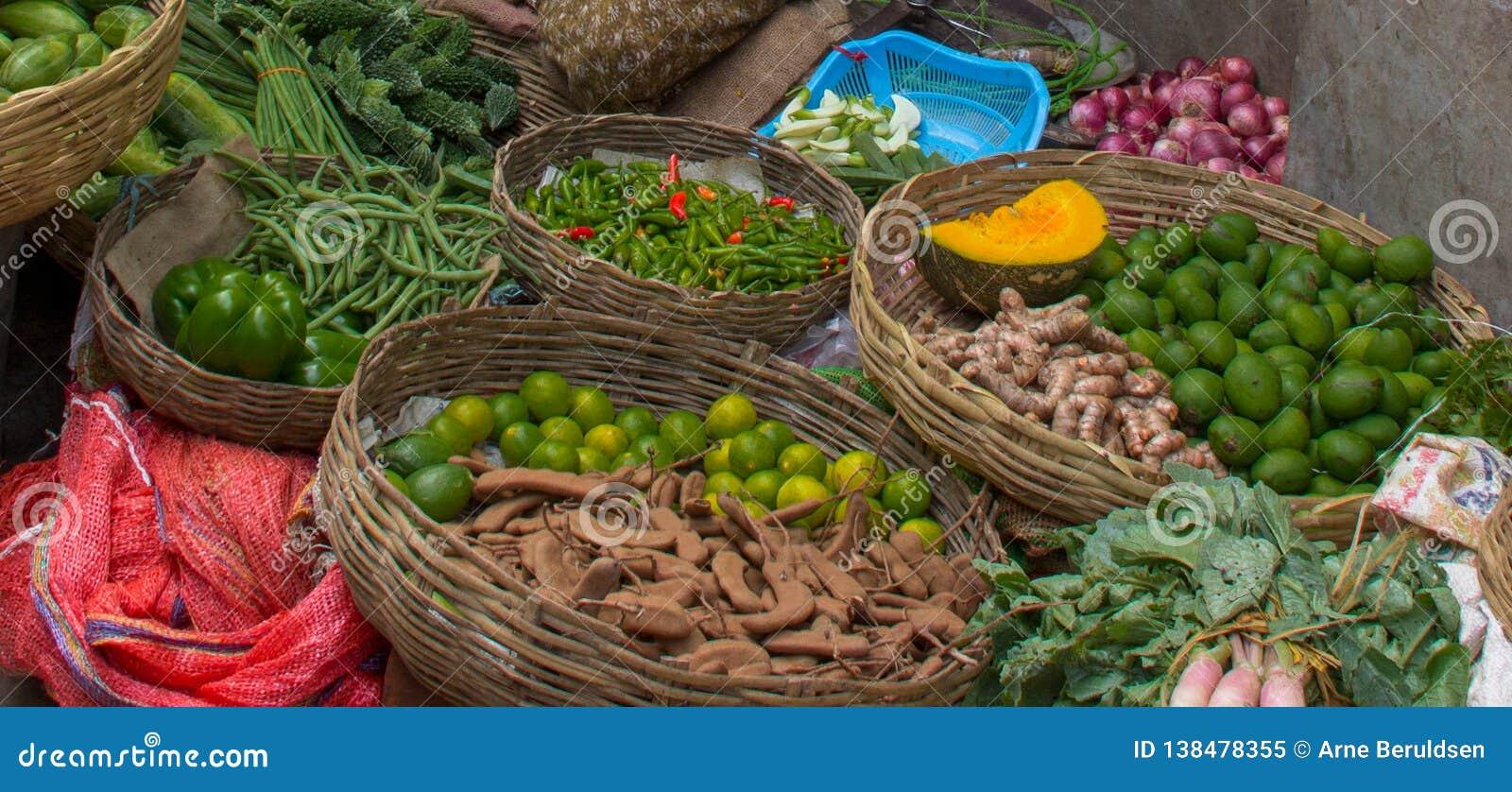Obst- und GemüseMarkt in Indien
