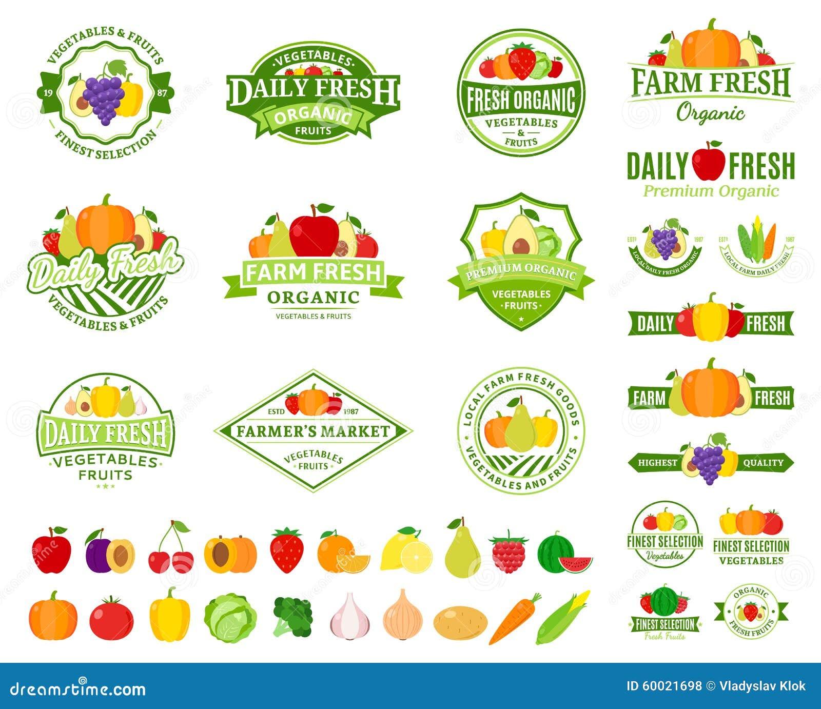 obst und gem252se logo aufkleber obst und gem252seikonen