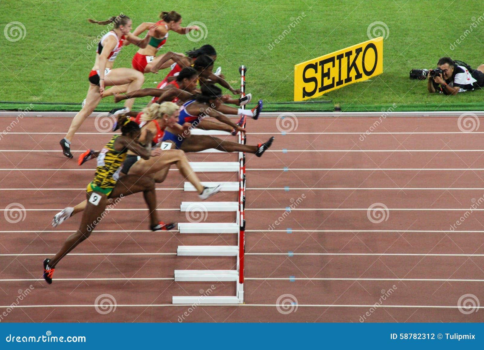 100 obstacles des mètres des femmes finaux aux championnats du monde d IAAF dans Pékin, Chine