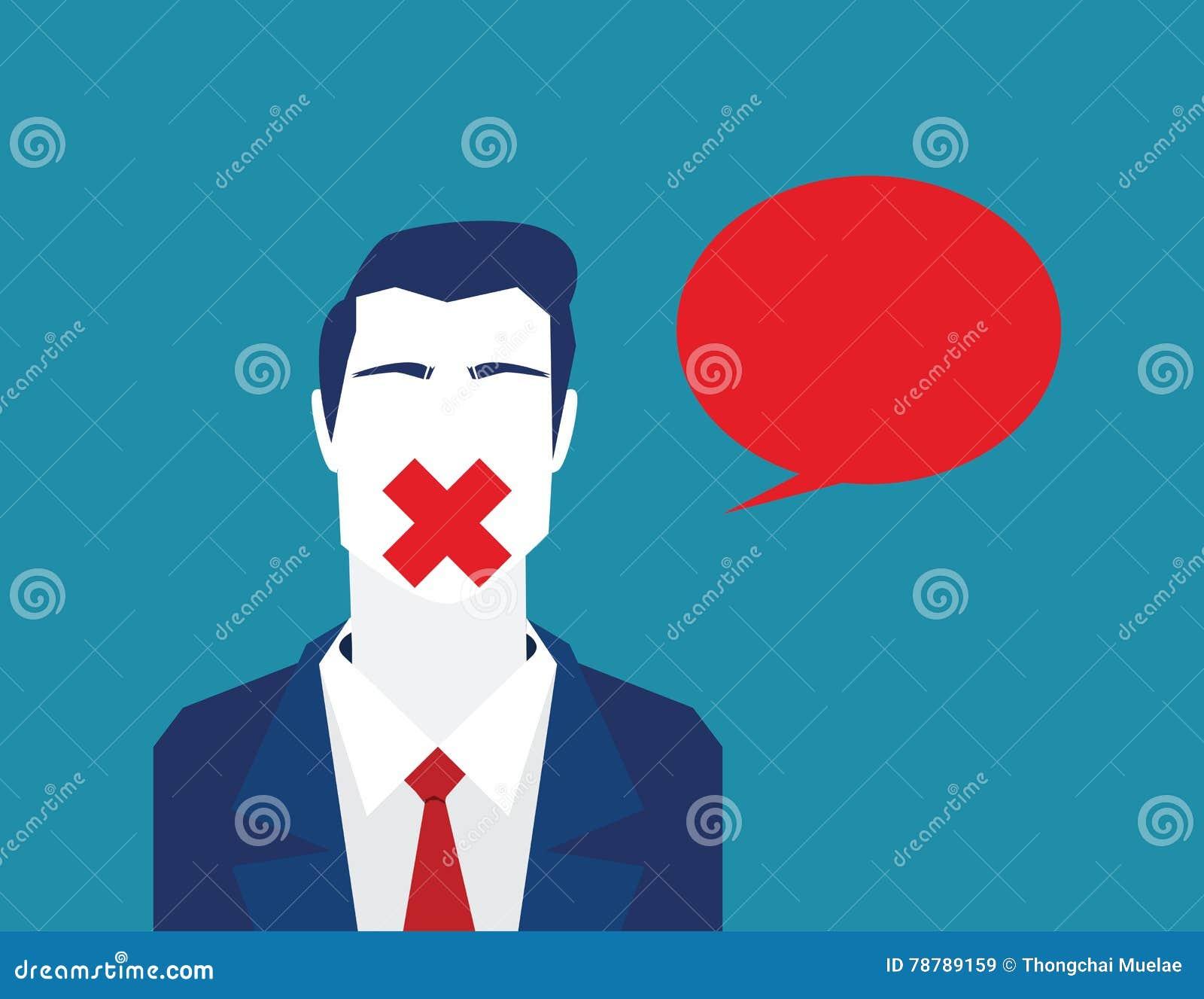Obstruindo a liberdade para falar ou comentar Fala fechado da liberdade barra-ônibus