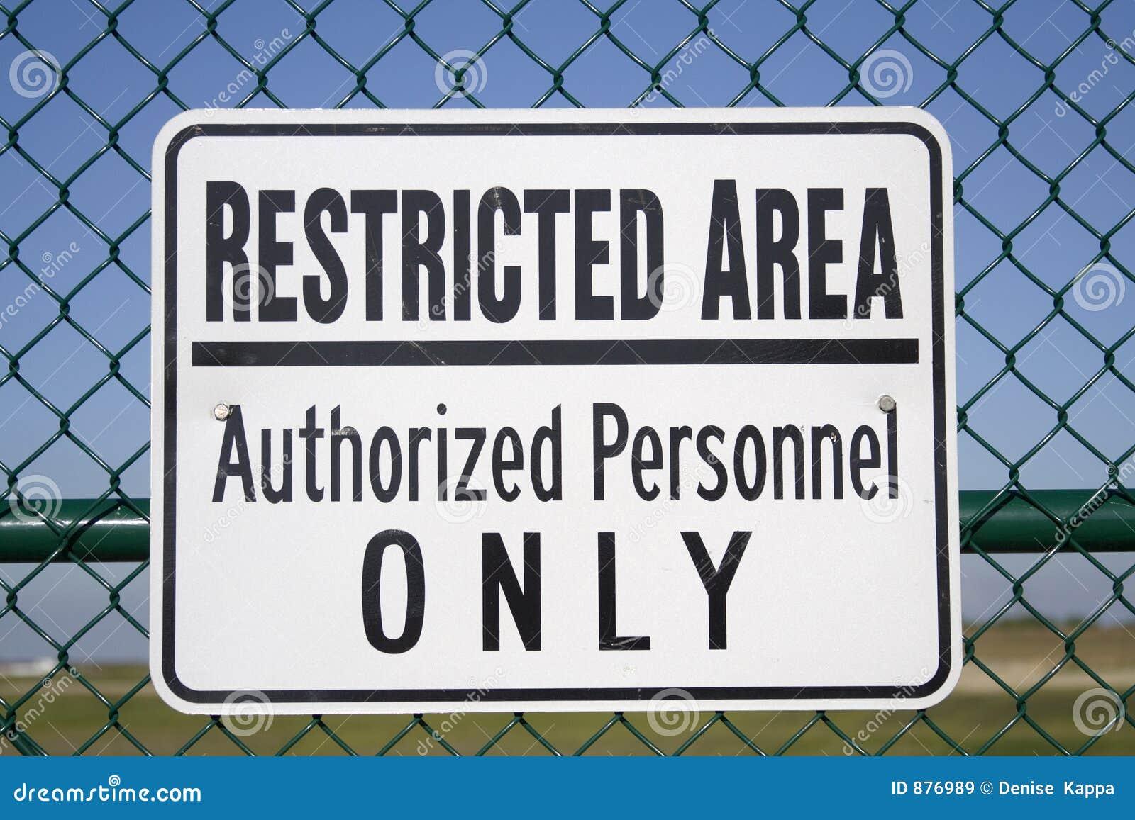 Obszar ograniczony znak