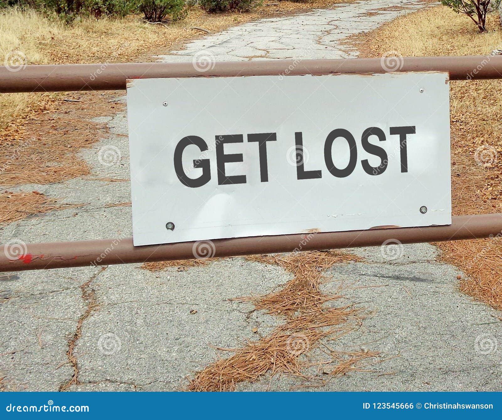 Obtenha sinal de estrada perdido