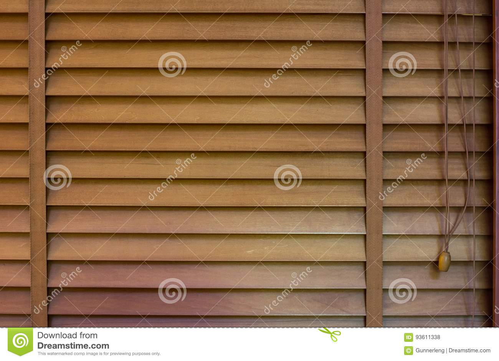 Obturadores de madeira da janela, textura do jalousie